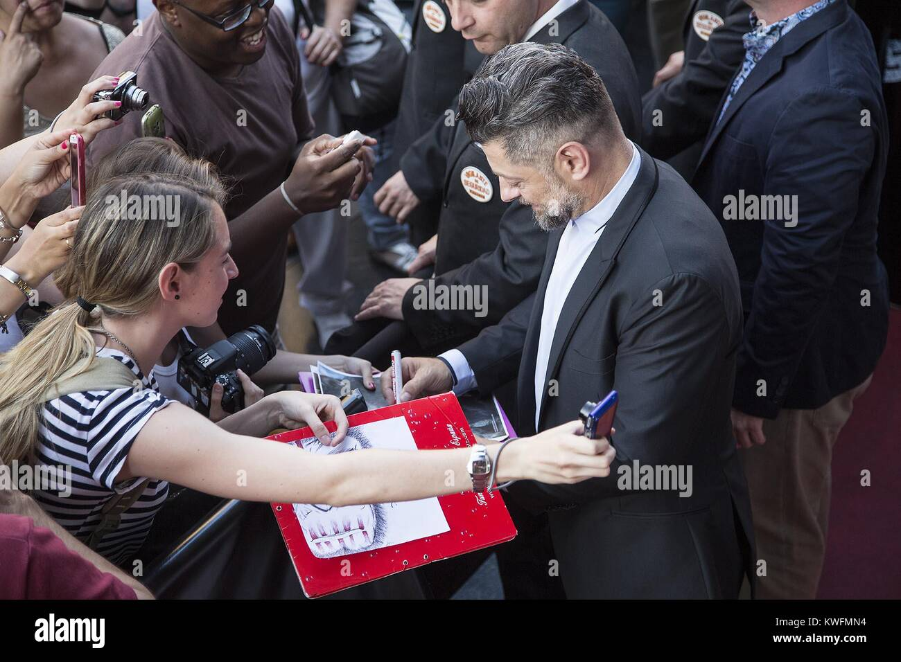 MADRID, SPAIN - JULY 16: Andy Serkis attends the 'Dawn of the Planet of the Apes' (El Amanecer del Planeta - Stock Image