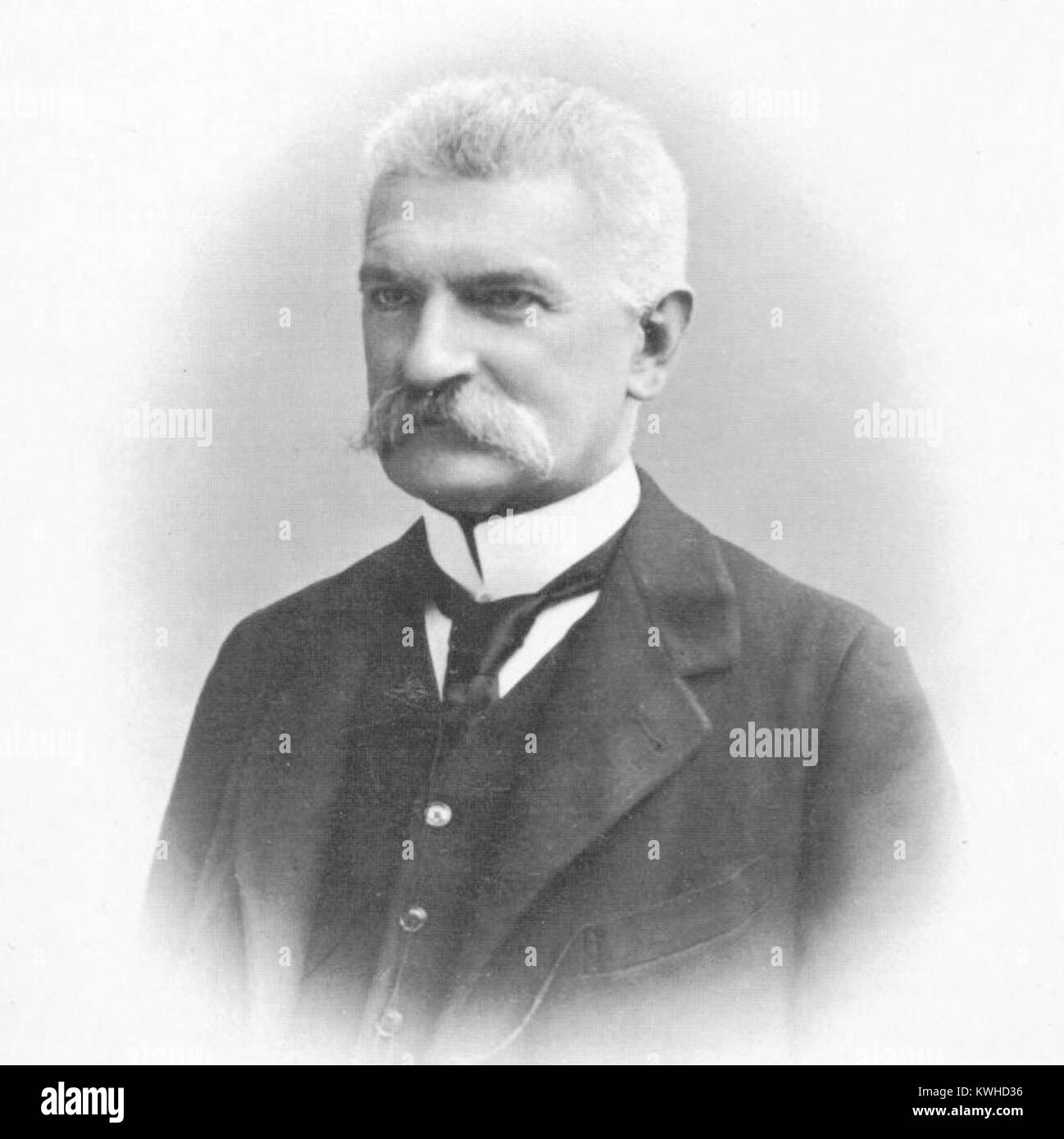 Sidney Sonnino, 1st Baron Sidney Costantino Sonnino, Italian politician and Prime Minister of Italy - Stock Image