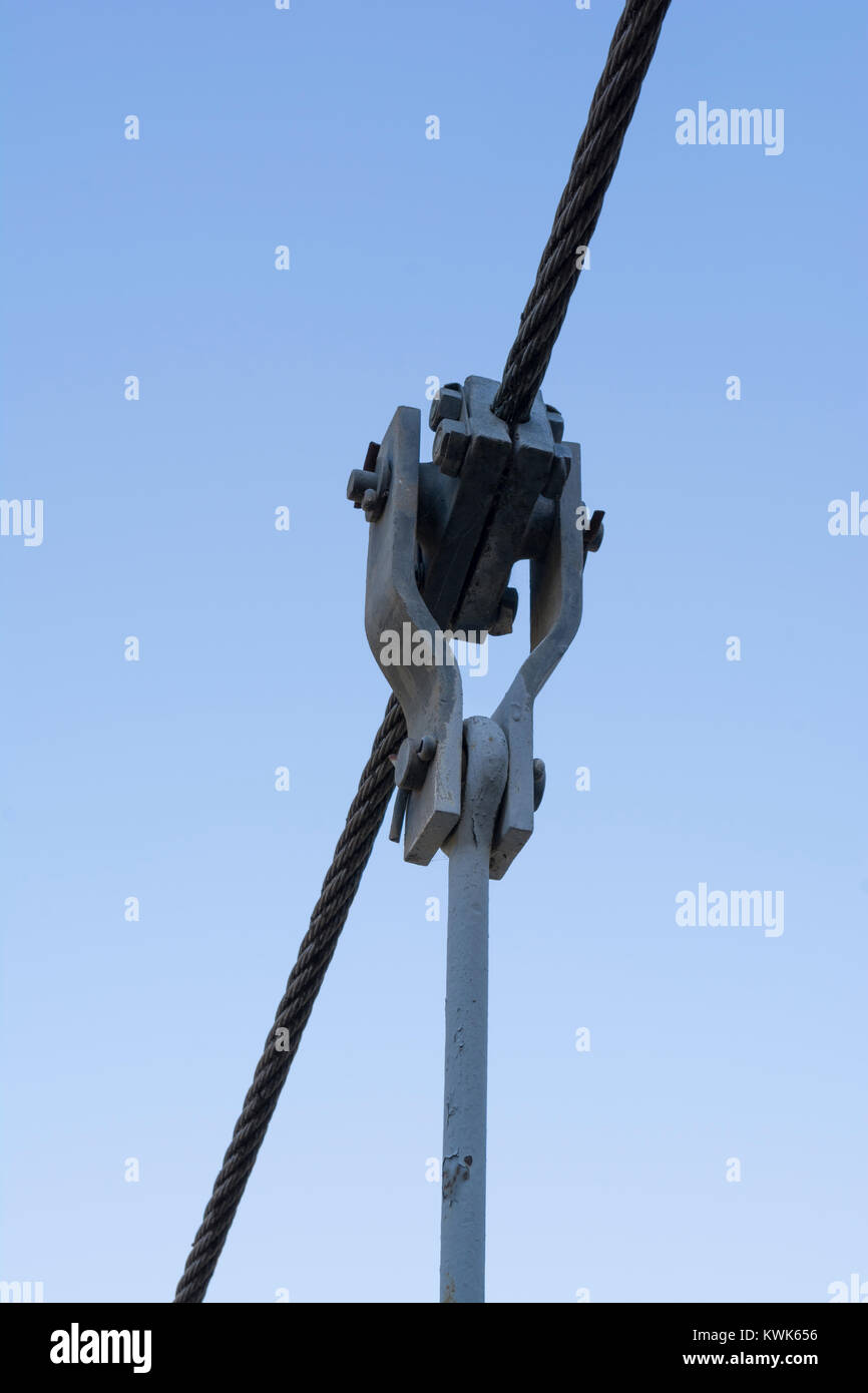 Wire rope, with custom made attachments used in the construction of ...