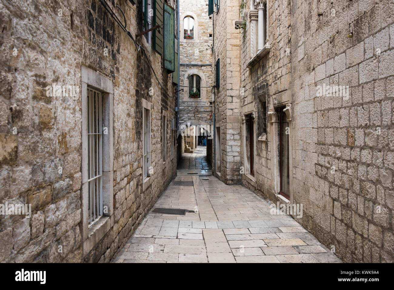 Papaliceva Street, Game of Thrones location, Split, Croatia - Stock Image