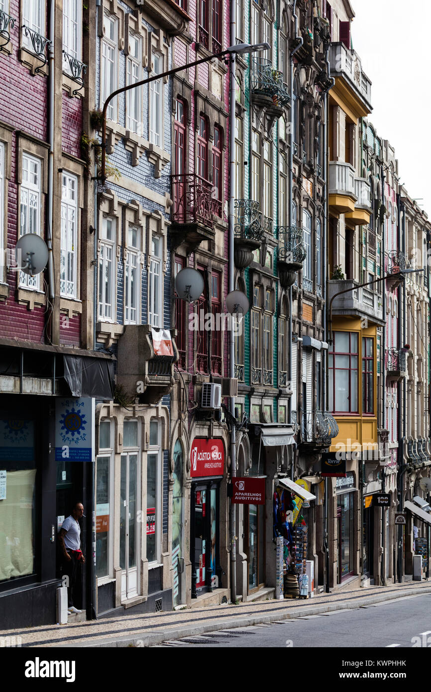 Street in Porto, Portugal - Stock Image