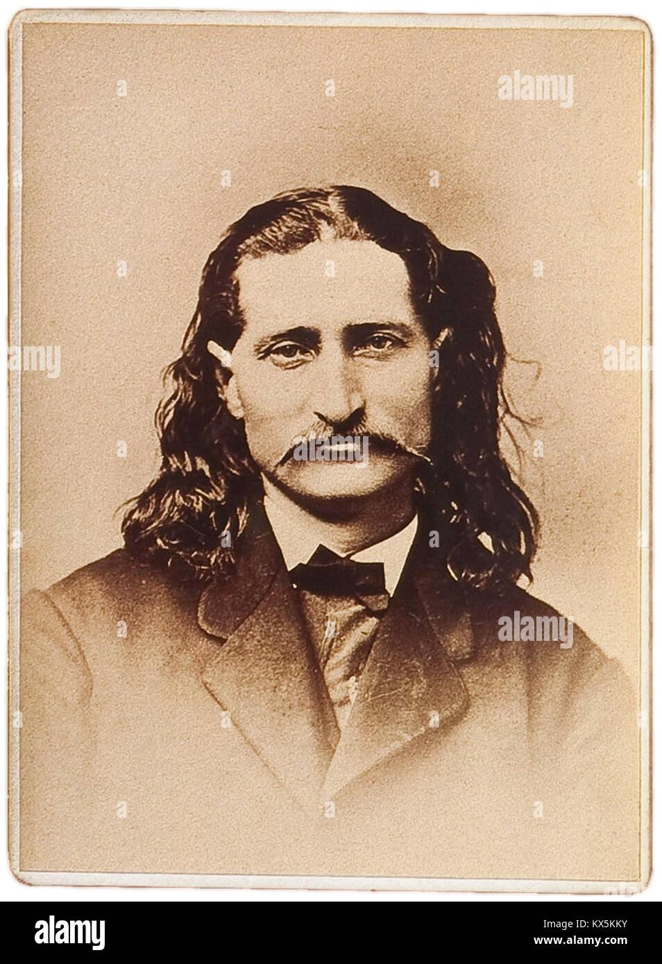 James Butler Hickok, 'Wild Bill' Hickok, James Hickok was a folk hero of the American Old West - Stock Image