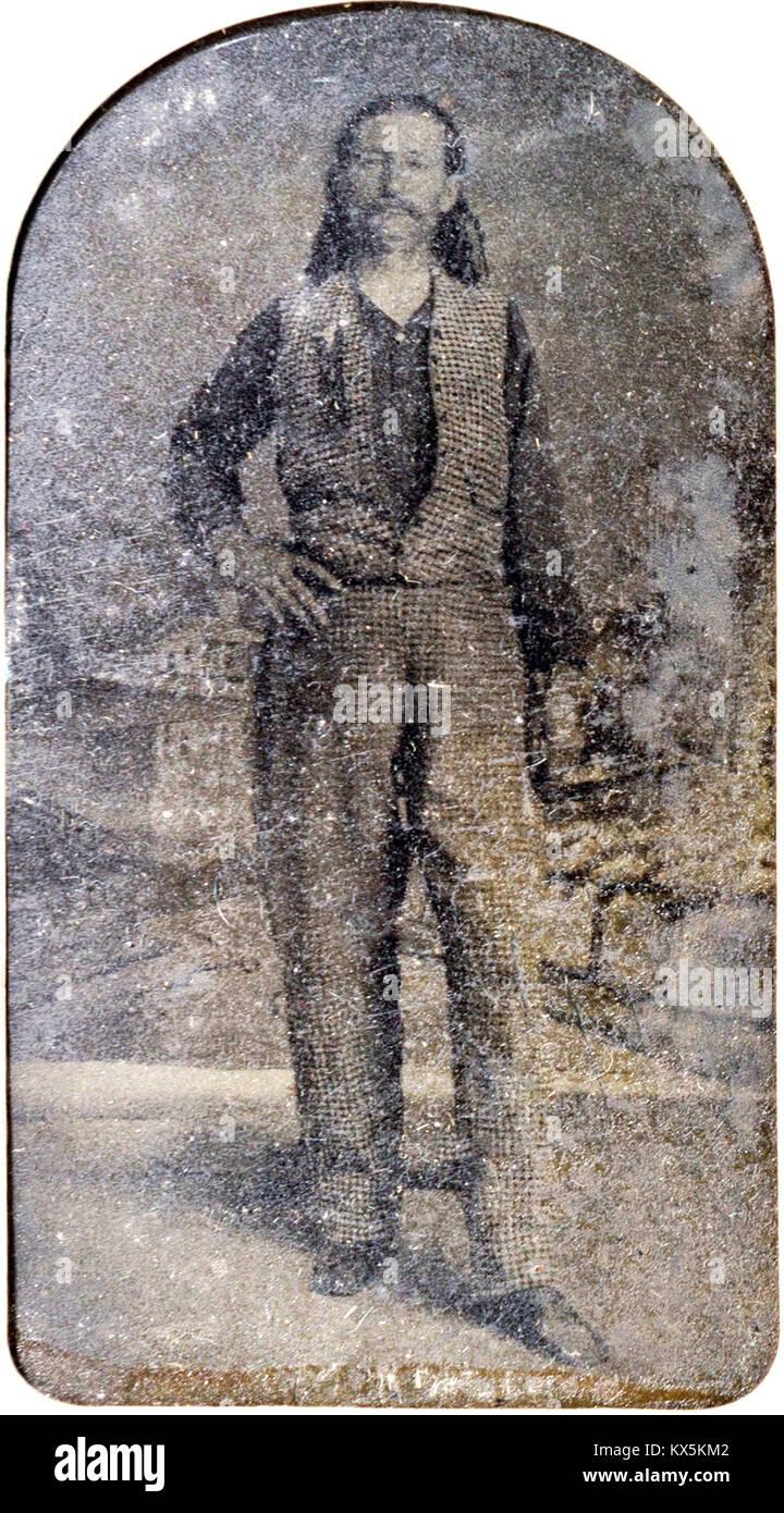 James Butler Hickok, 'Wild Bill' Hickok, James Hickok was a folk hero of the American Old West. A rare tintype - Stock Image