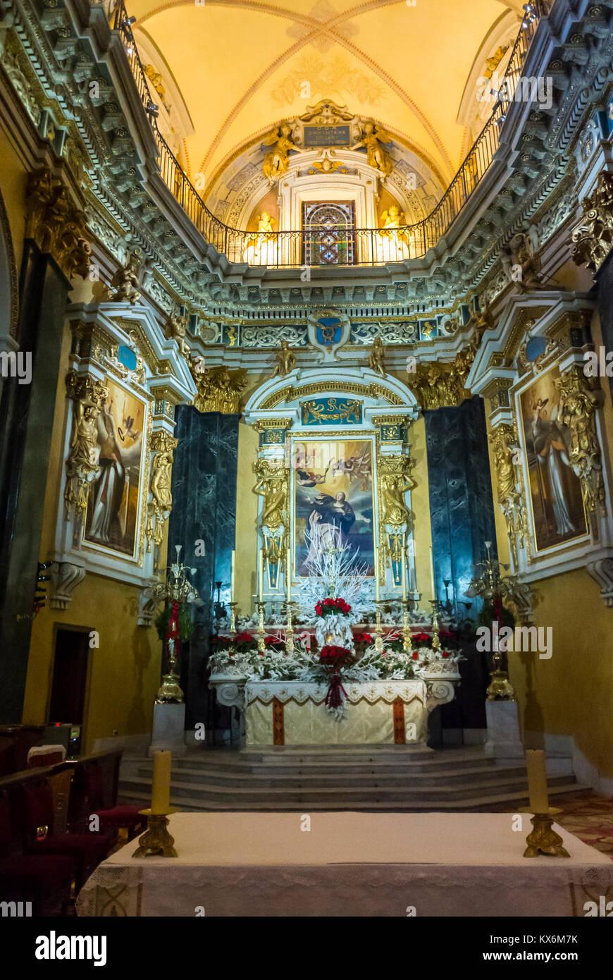 Nice, France, Catholic Church, Cathedrale Saint Reparte - Stock Image