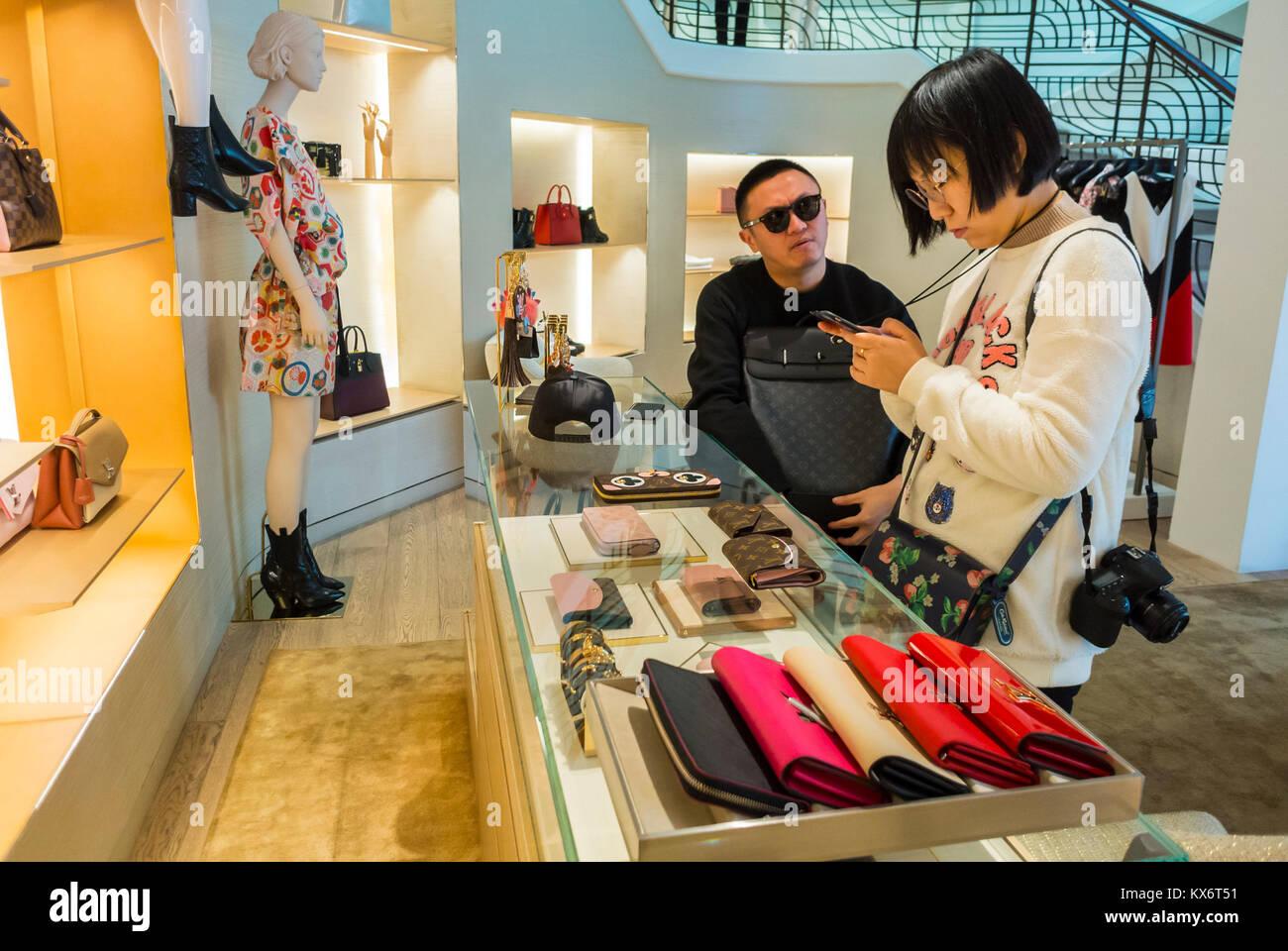 Monaco, Monte Carlo, Les Pavillions, Luxury Shops, Shopping Center - Stock Image