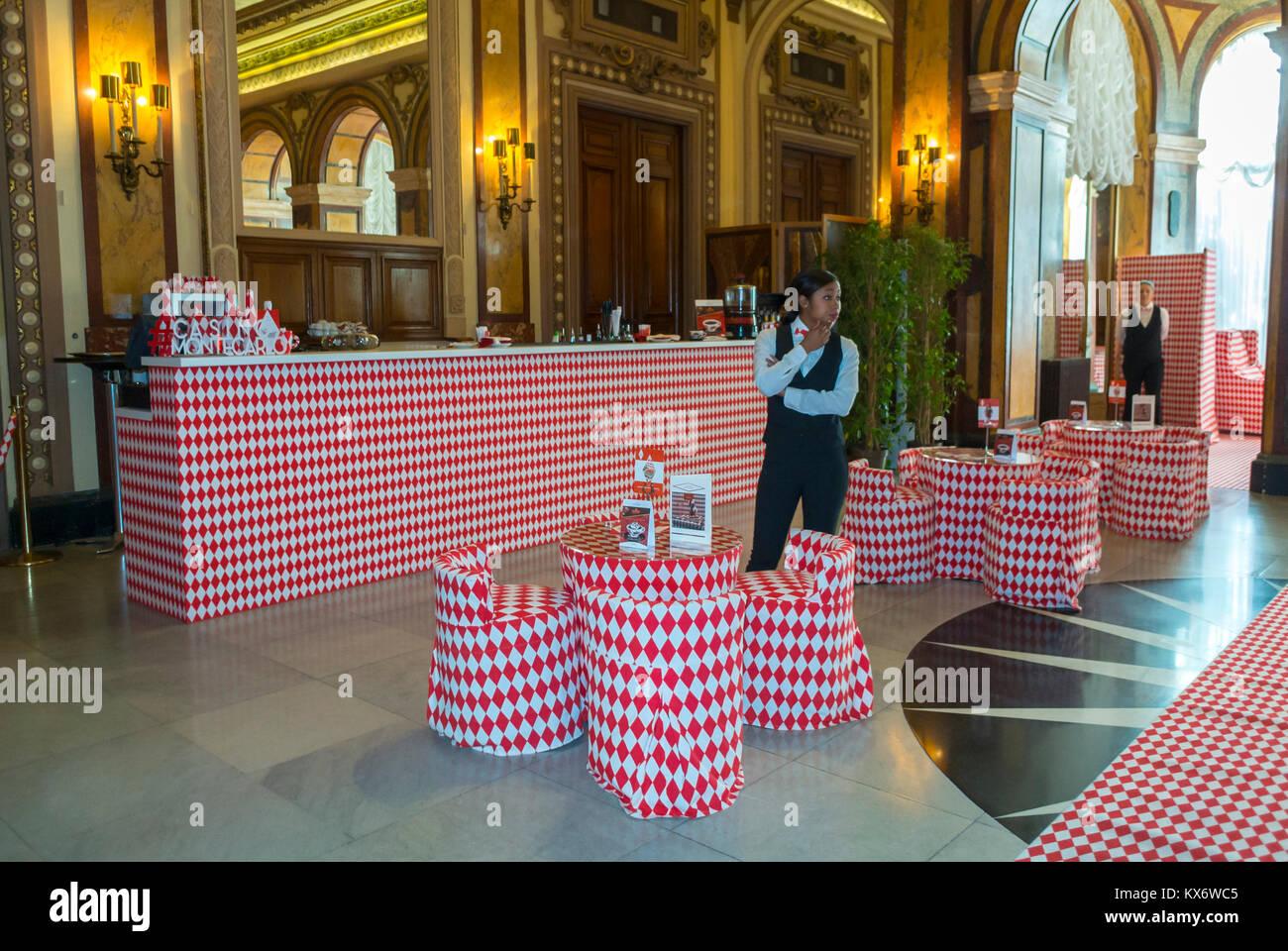 Monaco, Monte Carlo, Interior Art Installation, Le Casino, Credit: Charles Kaisin 'Lets fall in Diamonds' - Stock Image