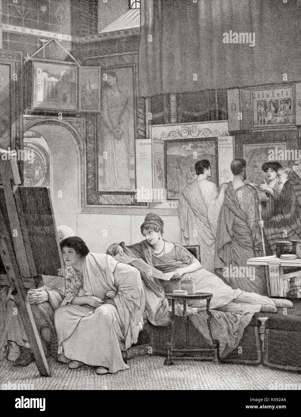 A Roman art gallery.  From Hutchinson's History of the Nations, published 1915. - Stock Image