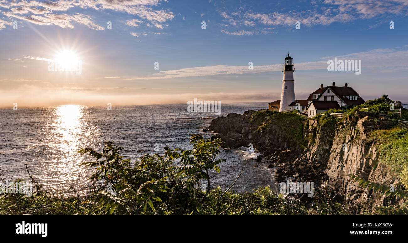 Portland Head Light in Maine Stock Photo