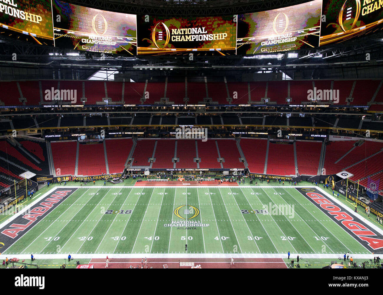 A general view of the field prior to College Football Playoff National  Championship game action between the Alabama Crimson Tide and the Georgia  Bulldogs at ... 5aa94e8cf