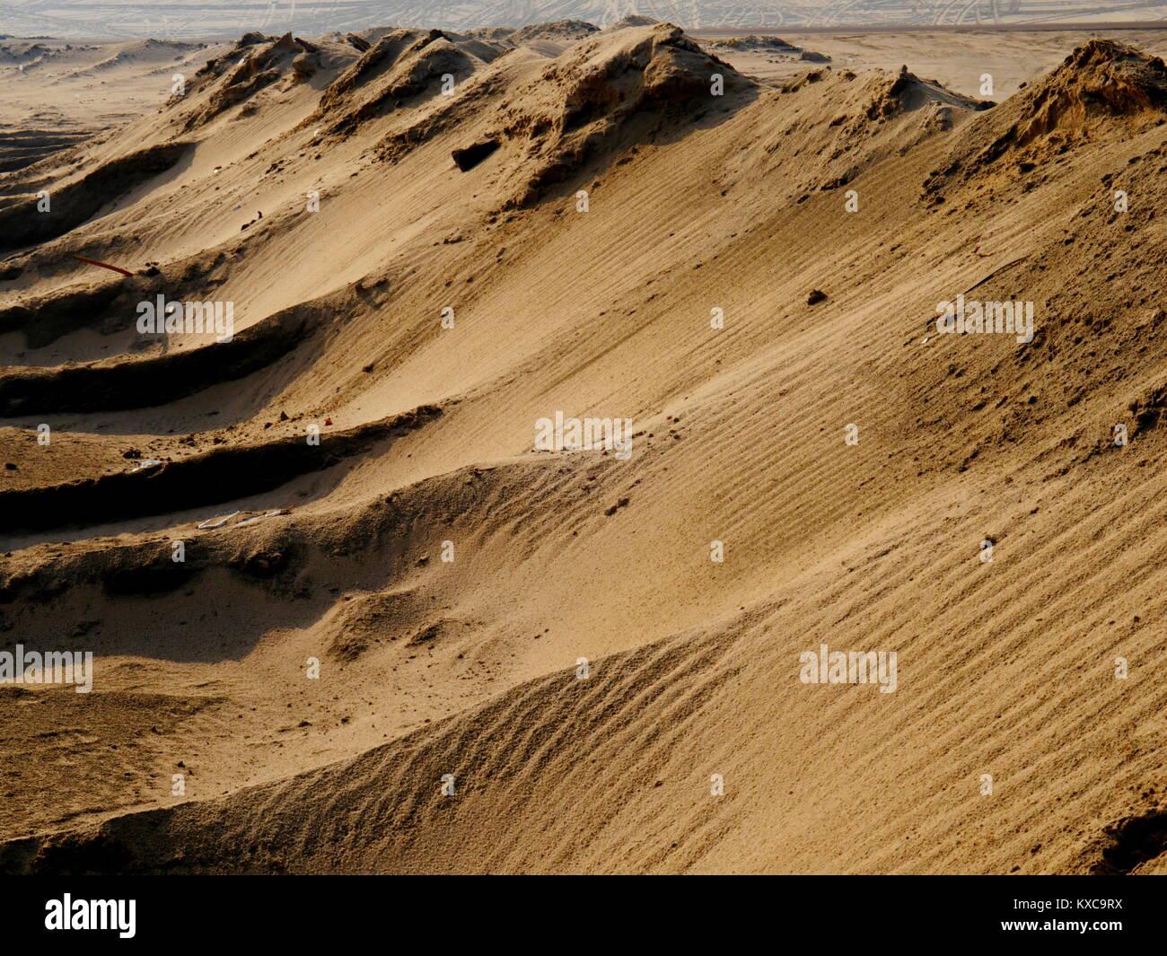 Saudi Arabia Desert full of sand hills and sand dunes and all over Desert beauty - Stock Image