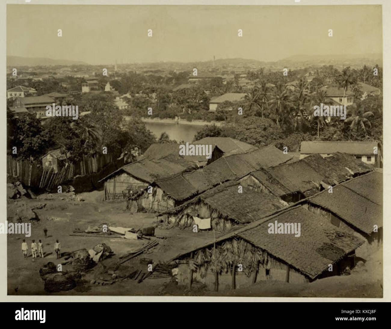 View from Malabar Hill - Bombay (Mumbai) 1880s Stock Photo