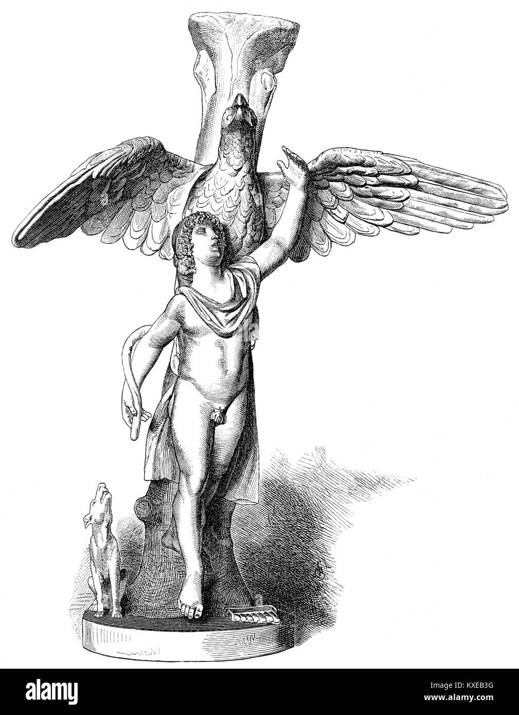 Ganymede or Ganymedes, Greek mythology - Stock Image