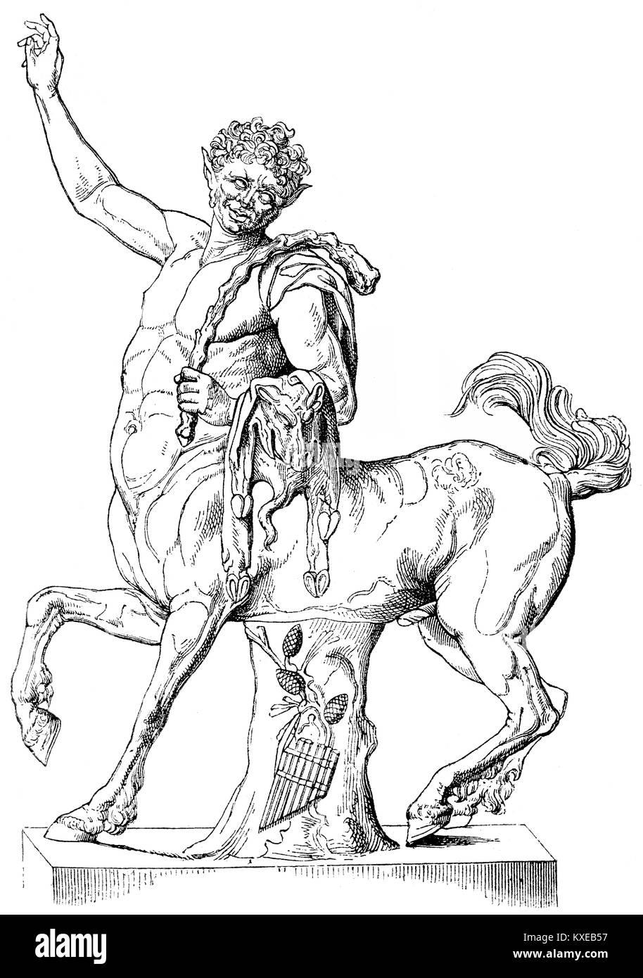 A centaur, Greek mythology - Stock Image