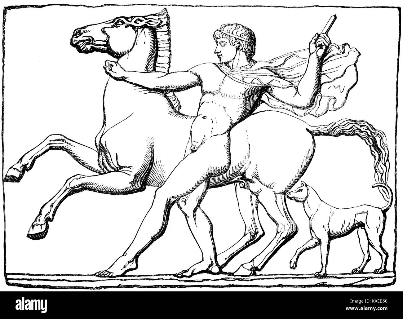 Castor,  Greek mythology - Stock Image