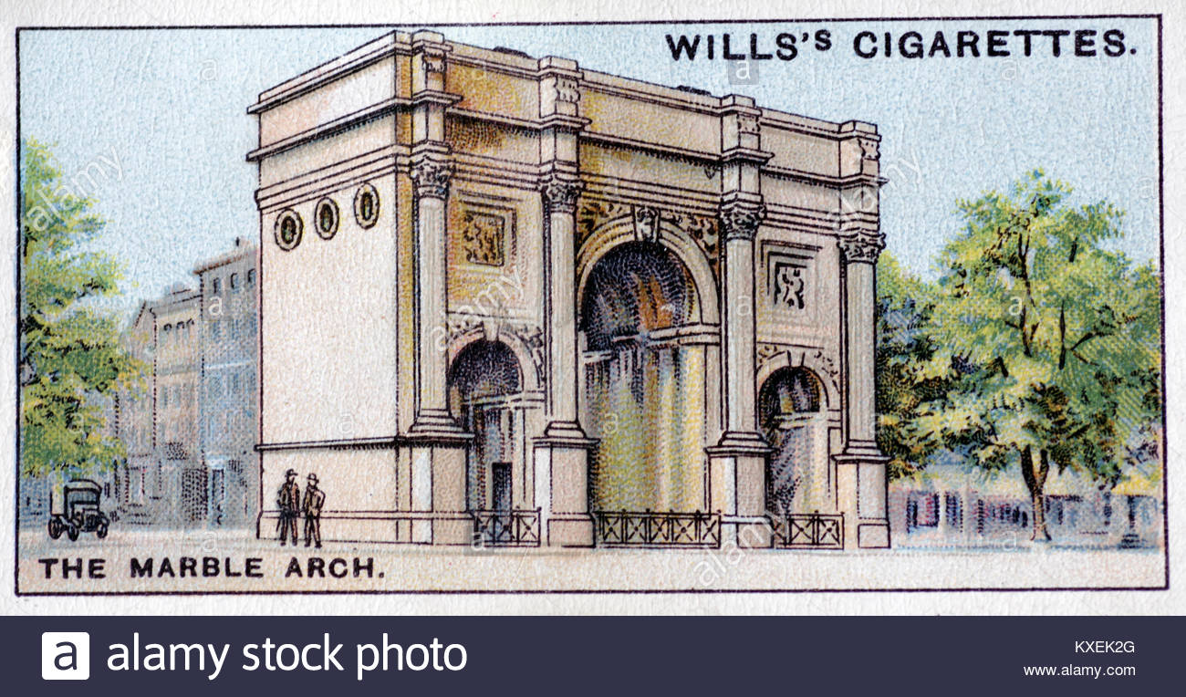 The Marble Arch London illustration - Stock Image