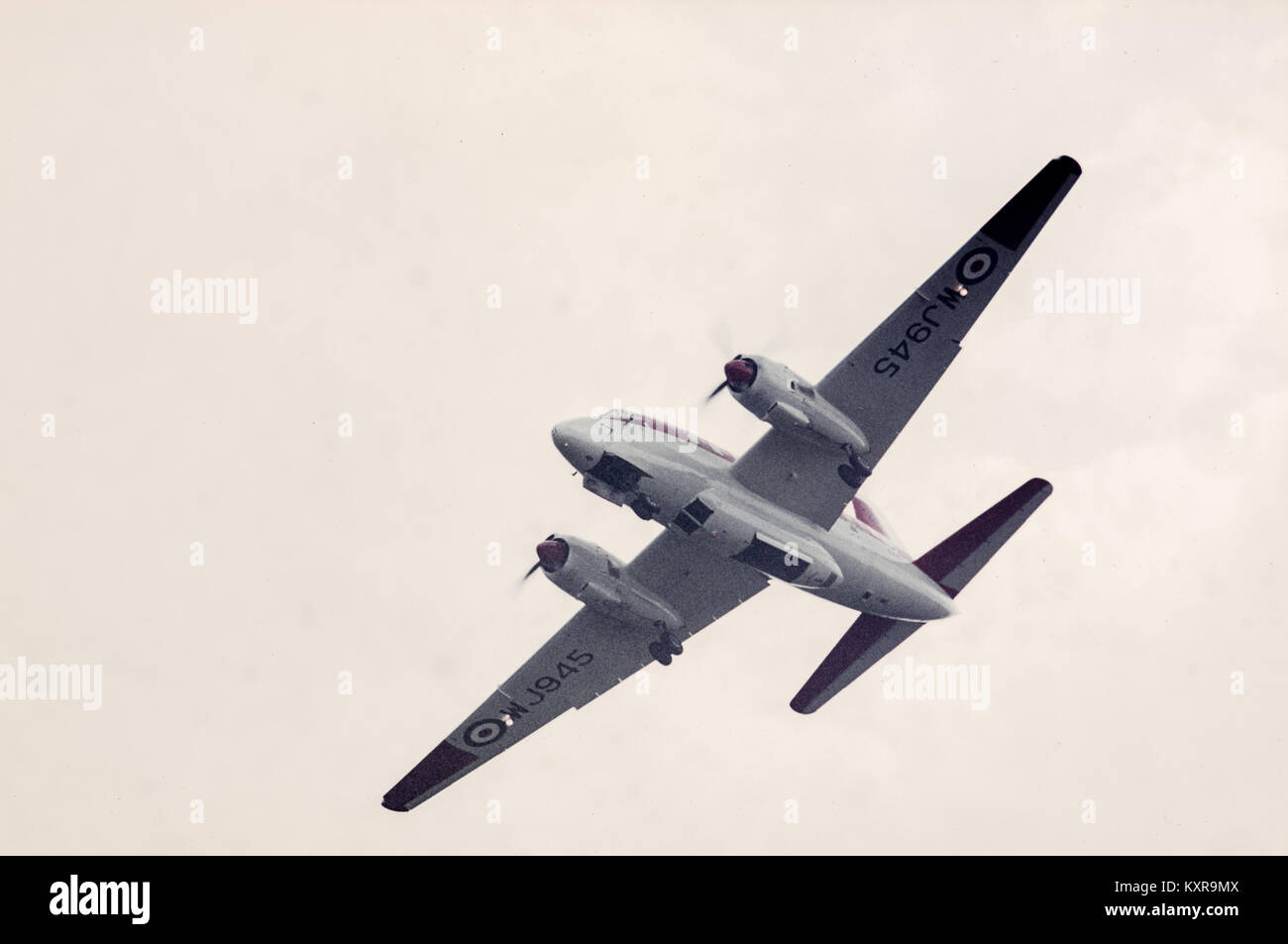 Royal Air Force Vickers Varsity T1 WJ945 in colours of 6 Flying Training School, at Shuttleworth Collection air Stock Photo