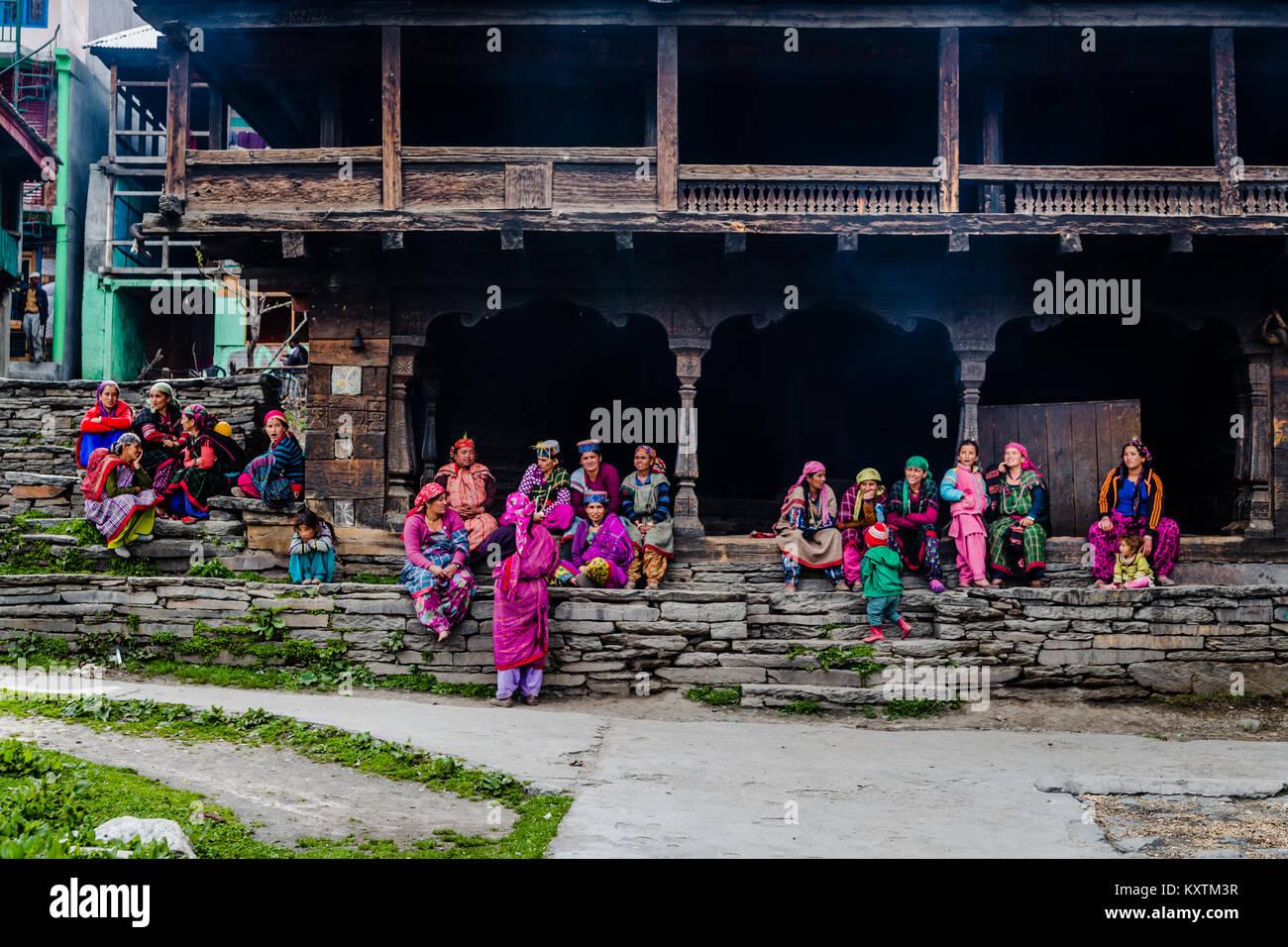 Malana Village - Himachal Pradesh - India © Sauriêl Ltd   Samantha Scholl   fb.com/SaurielPhotography   www.saurielcreative.com Stock Photo