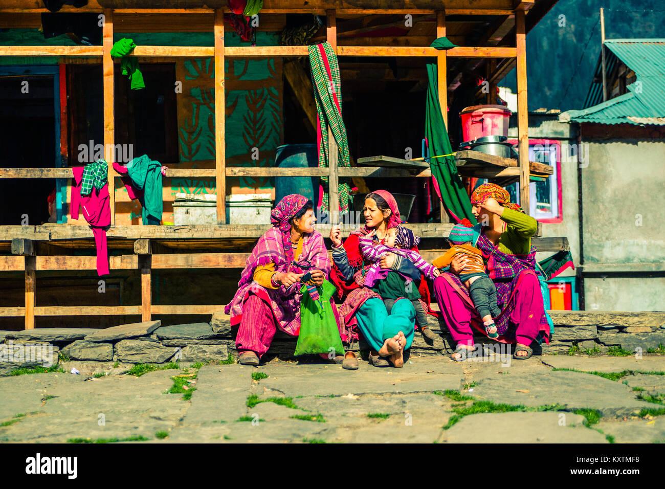 Malana Village - Himachal Pradesh - India © Sauriêl Ltd | Samantha Scholl | fb.com/SaurielPhotography | www.saurielcreative.com Stock Photo