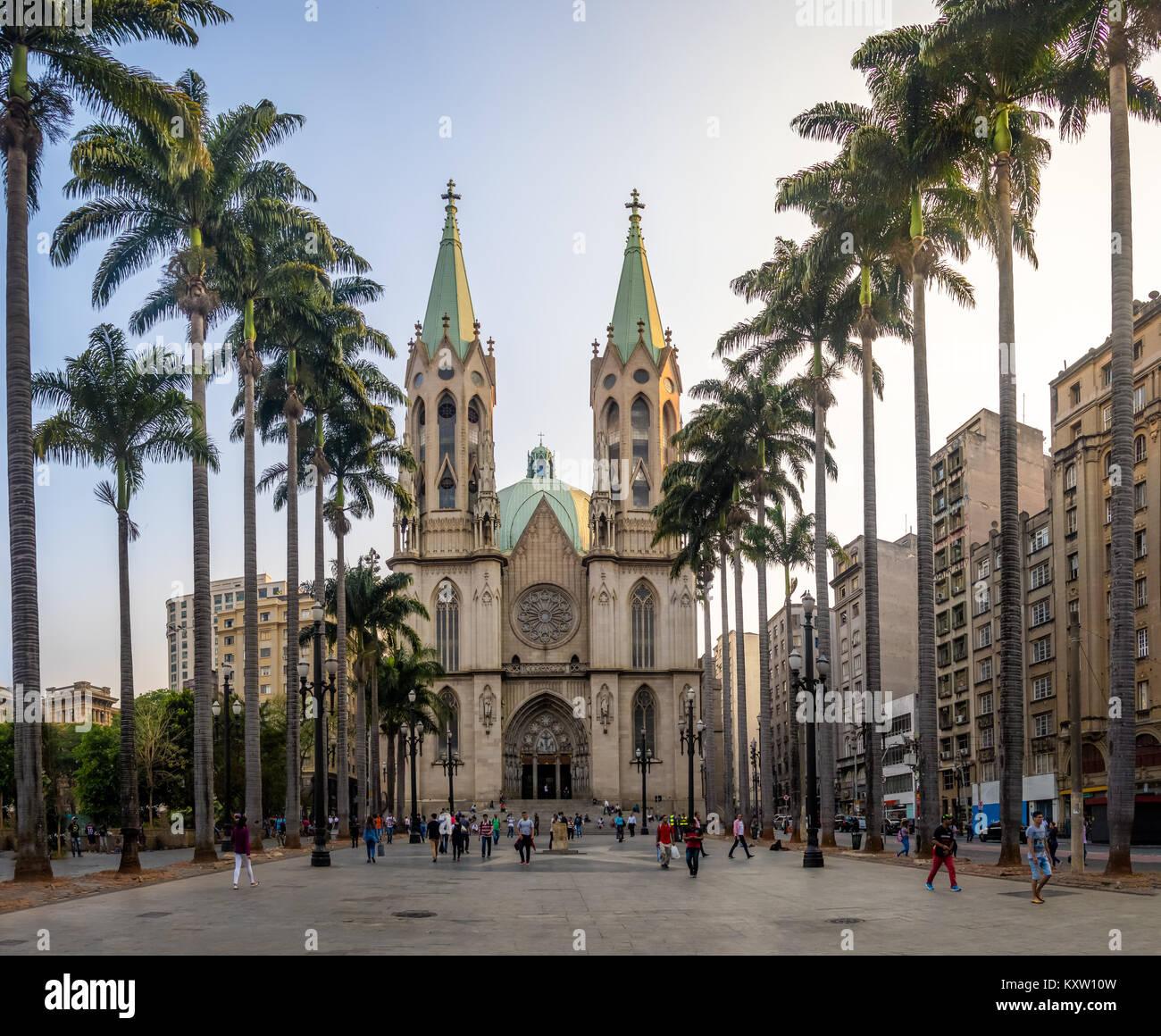 Se Cathedral - Sao Paulo, Brazil - Stock Image