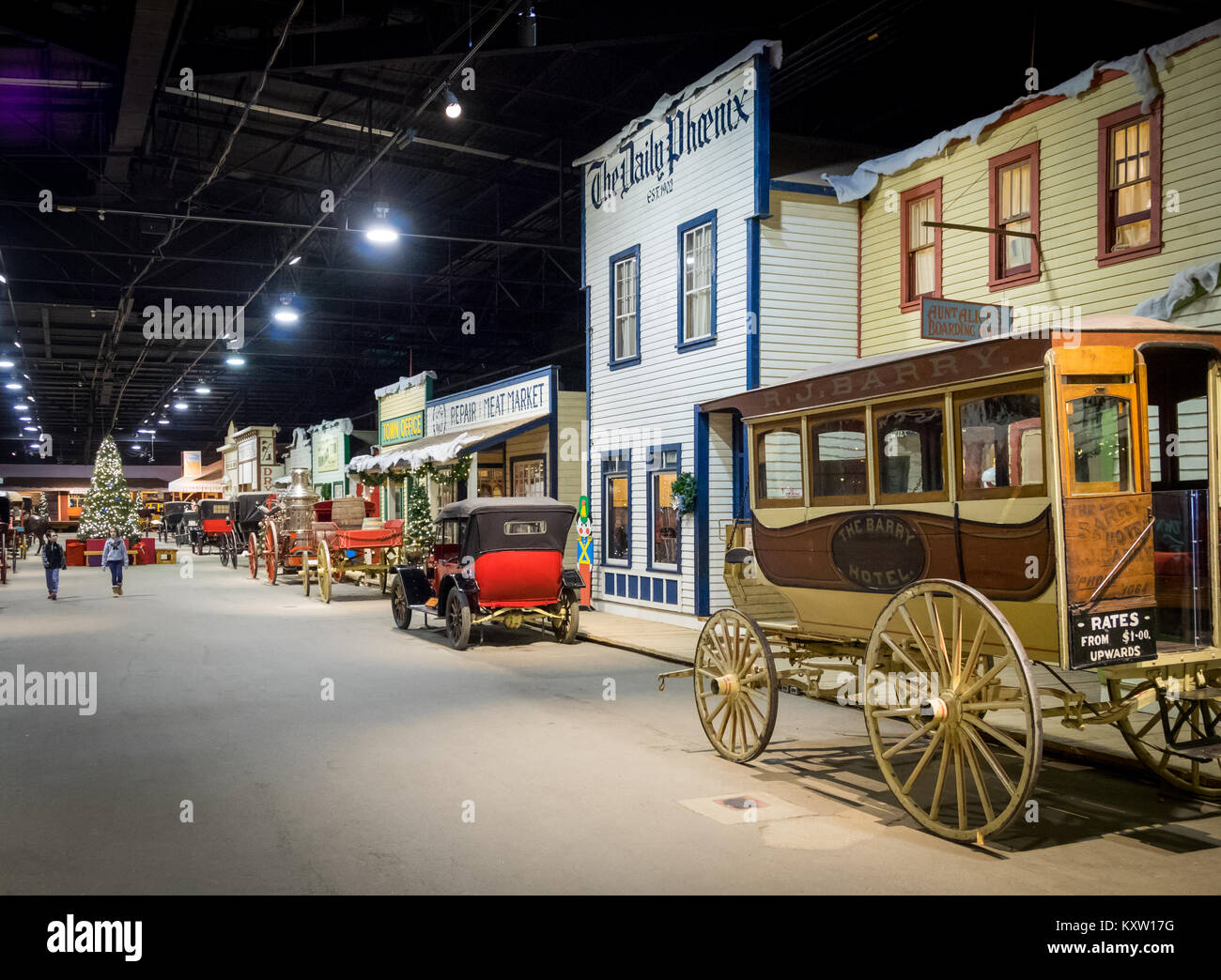 1910 Boomtown Street at the Western Development Museum in Saskatoon, Saskatchewan, Canada. - Stock Image