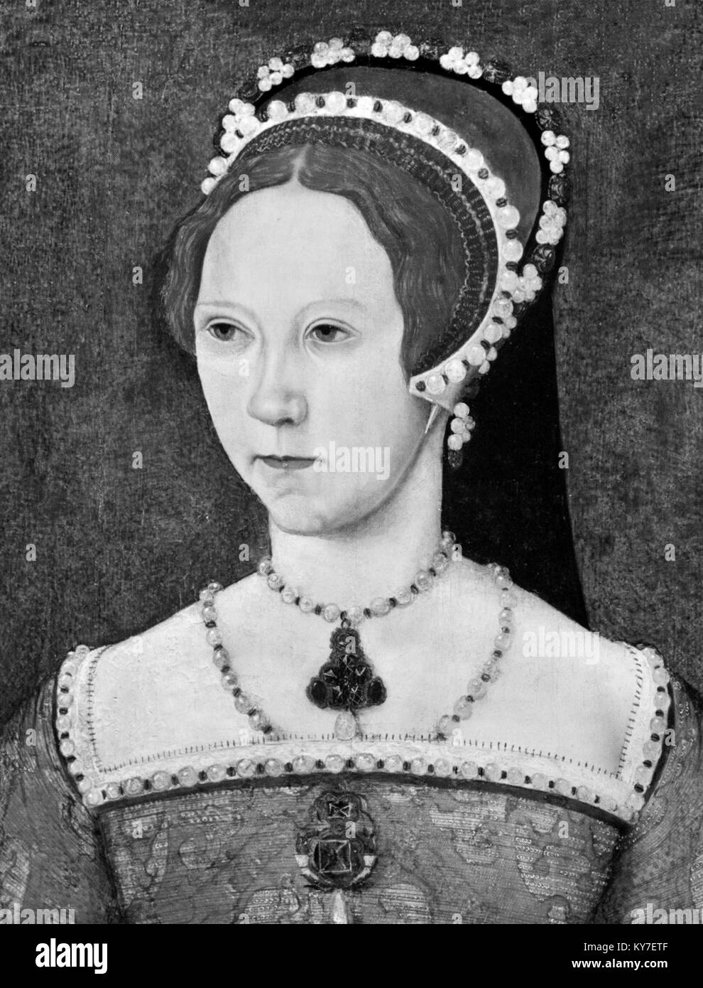 Mary I. Portrait of Queen Mary I of England (1516-1558) - Stock Image