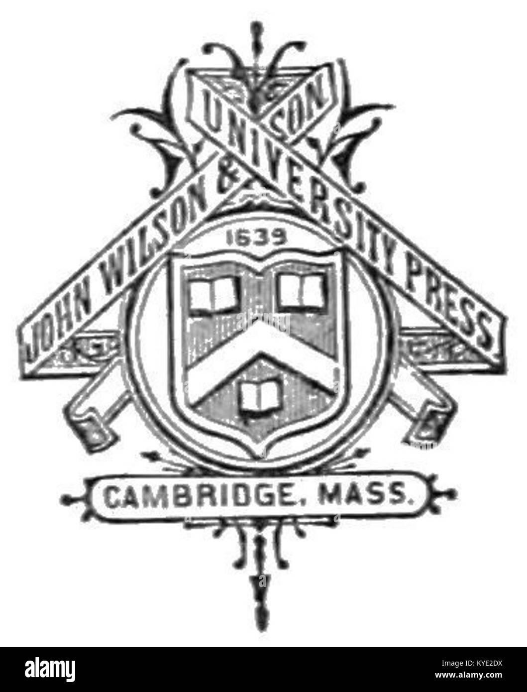 Tlm D008 John Wilson Son University Press Logo Stock Photo