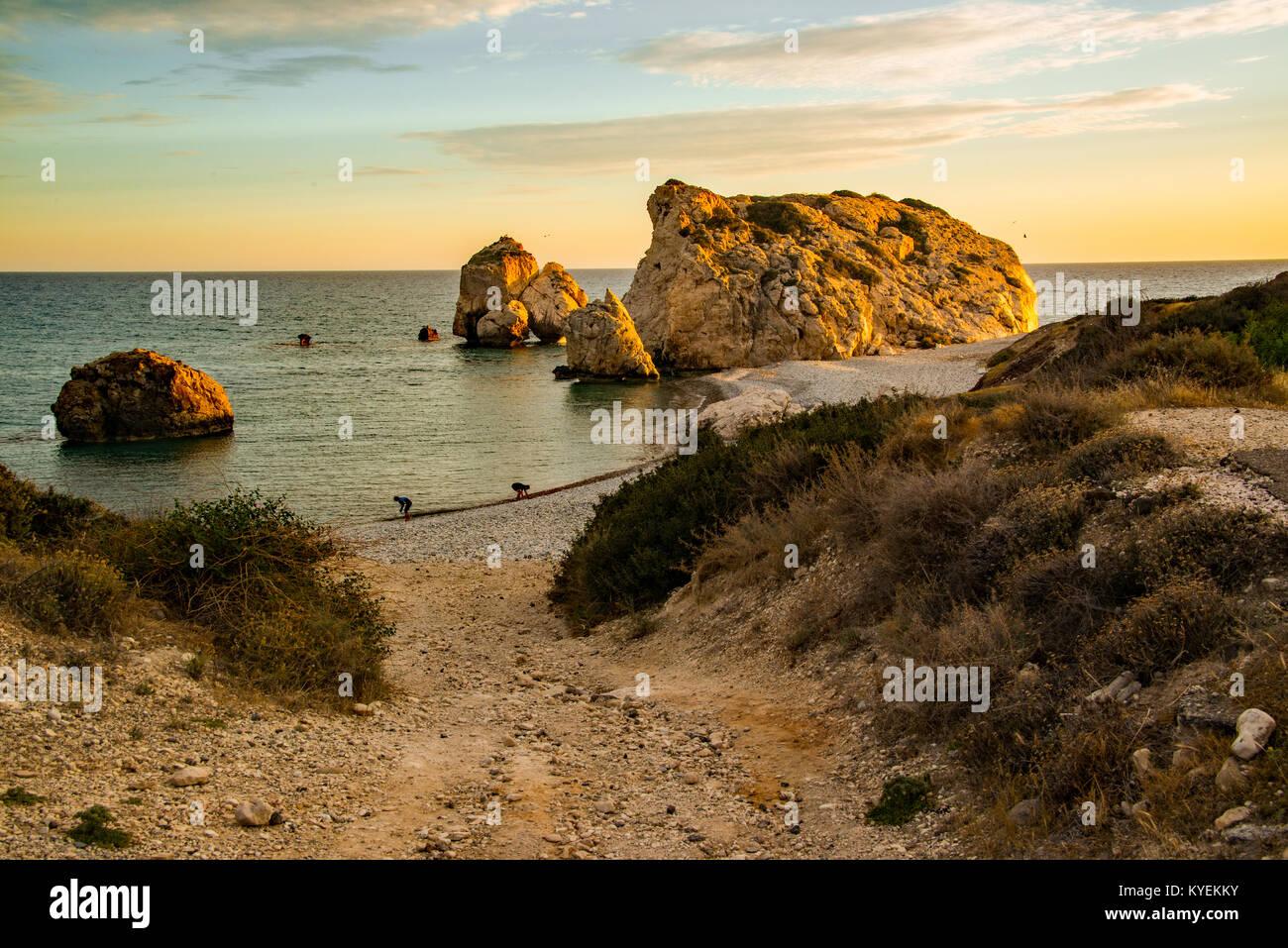 Rock of Aphrodite, Cyprus - Stock Image
