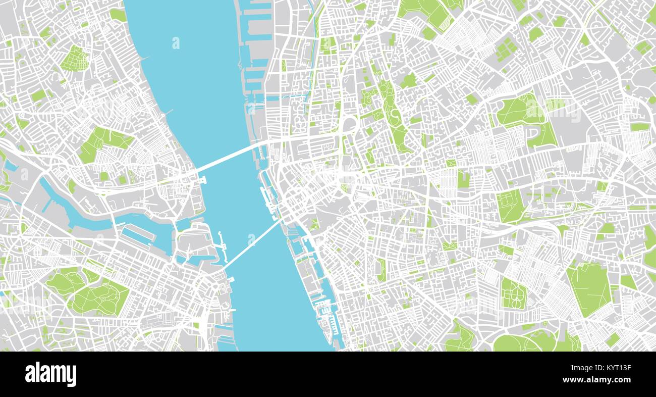 Map Of England Liverpool.Urban Vector City Map Of Liverpool England Stock Vector Art