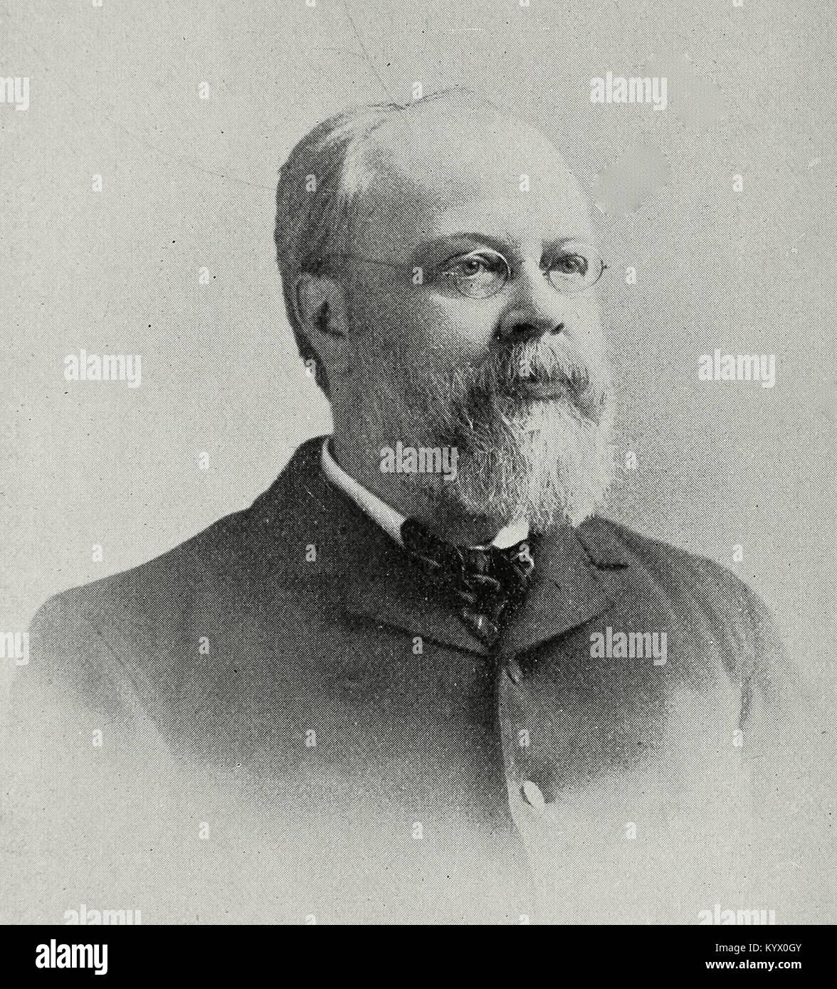 Franklin Leonard Pope, American engineer, explorer, and inventor - Stock Image