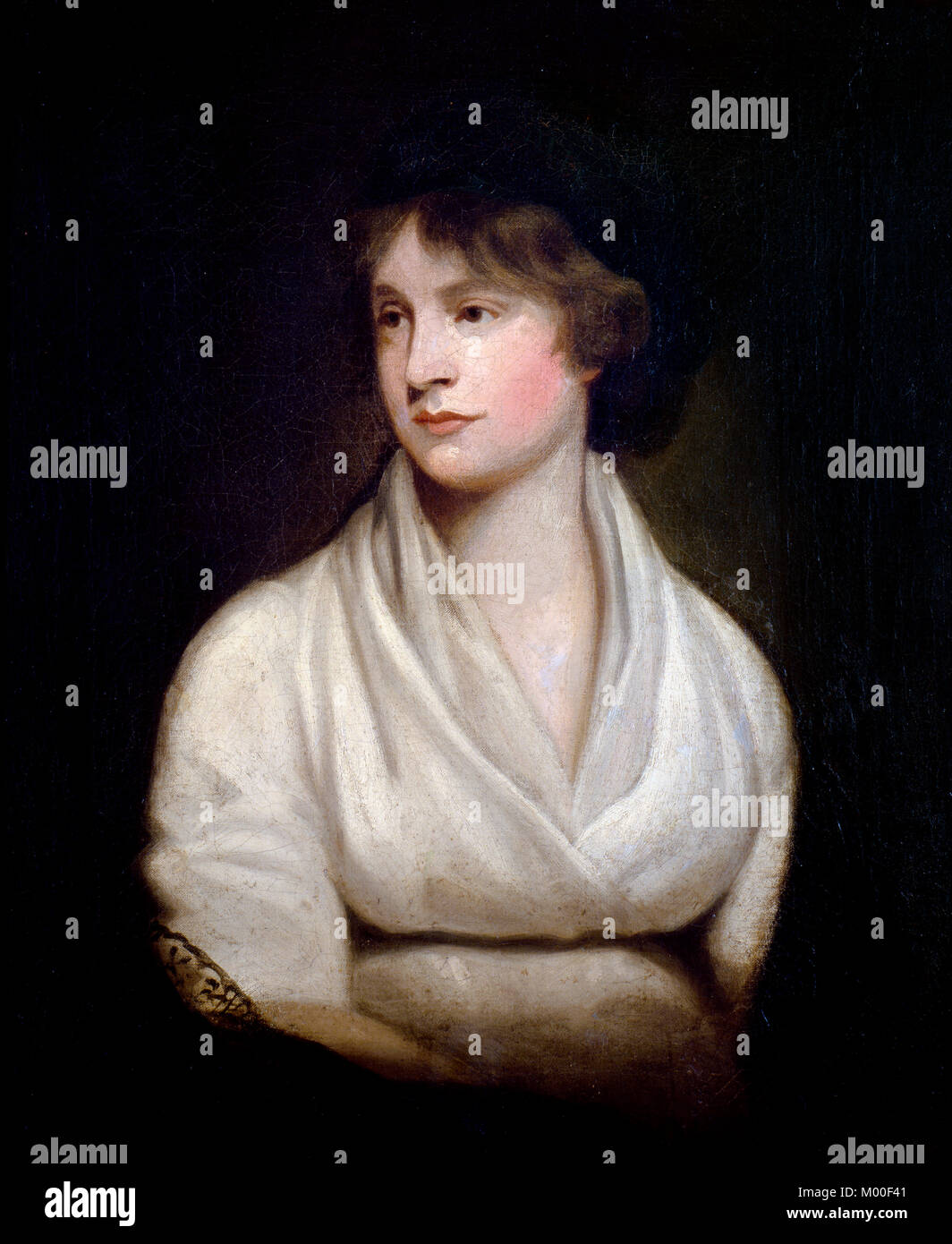 Mary Wollstonecraft (1759-1797), portrait of the writer, activist and mother of Mary Shelley. Copy by John Keenan Stock Photo
