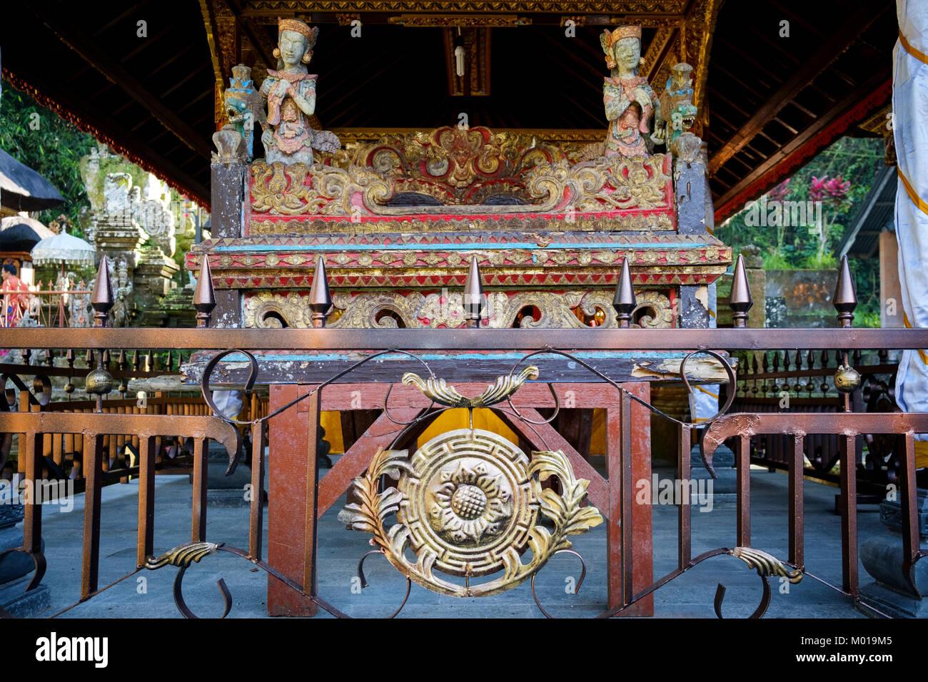 A shrine in Gunung Kawi Sebatu Temple ('Pura'), Bali, Indonesia. - Stock Image