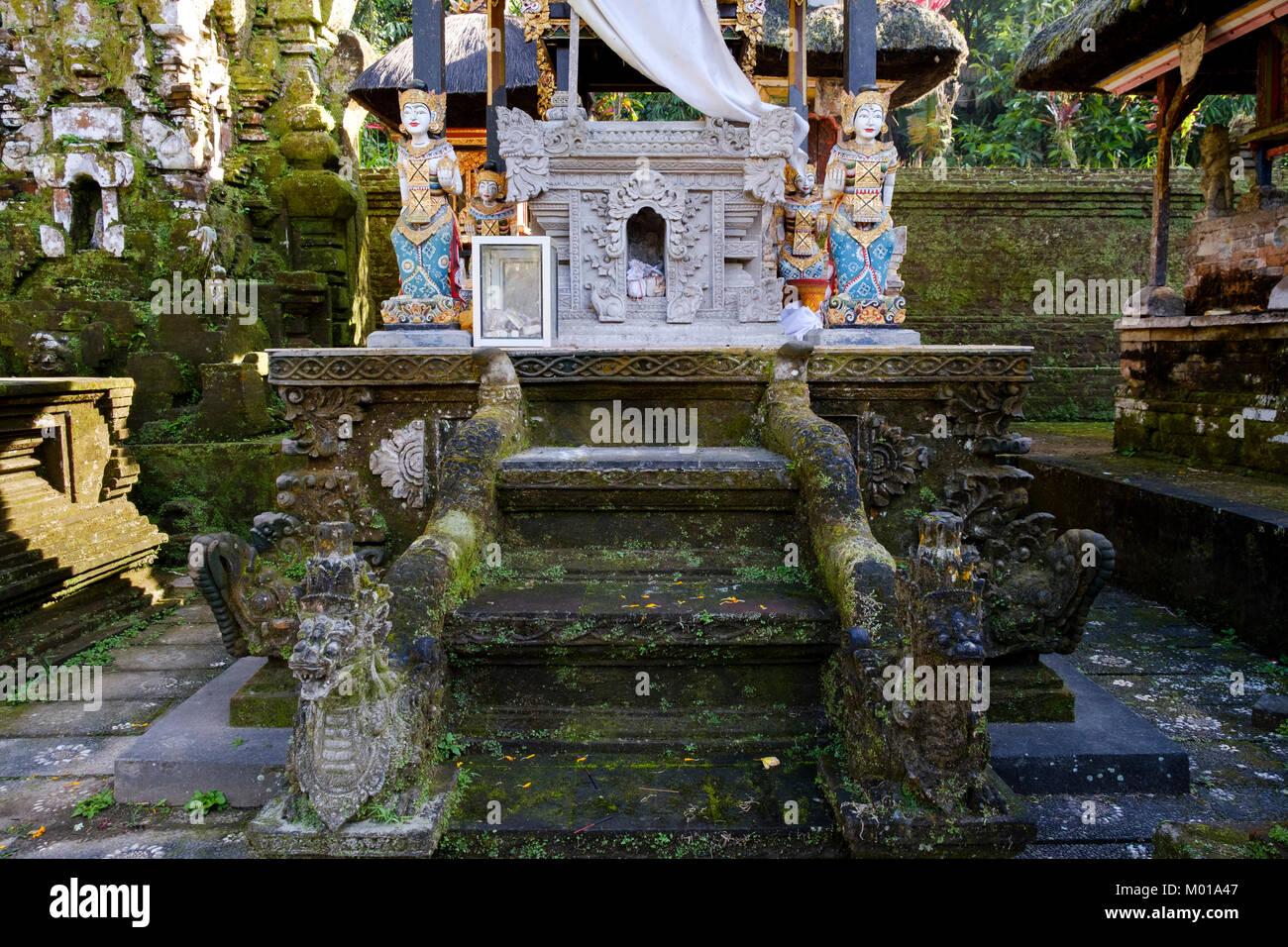 Altar at Pura Gunung Kawi Sebatu, a temple in Bali, Indonesia. - Stock Image