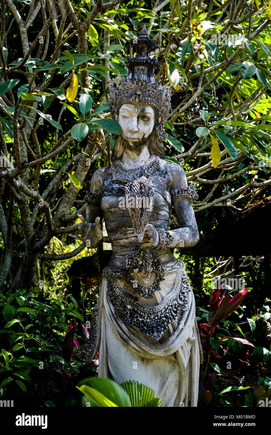Statue of Dewi Sri (or Shridevi), goddess of rice and fertility, Ubud, Bali, Indonesia. - Stock Image