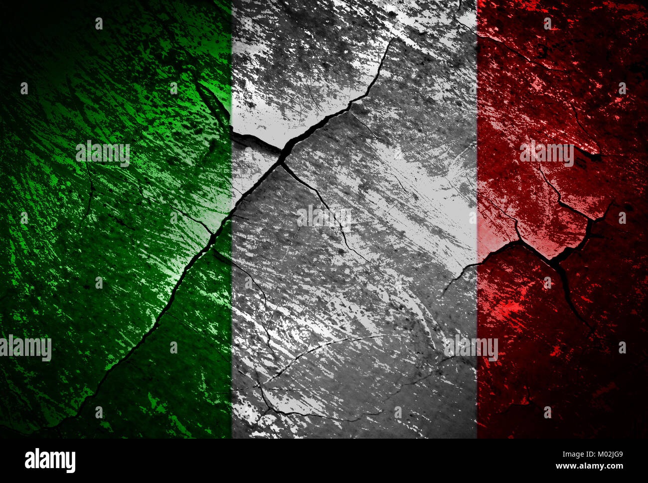 Italyg flag  grunge textures and backgrounds - Stock Image