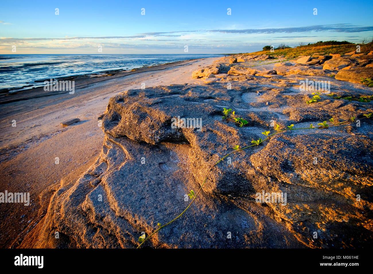Australia, North Queensland, Karumba.  Karumba Point beach at sunset. Stock Photo