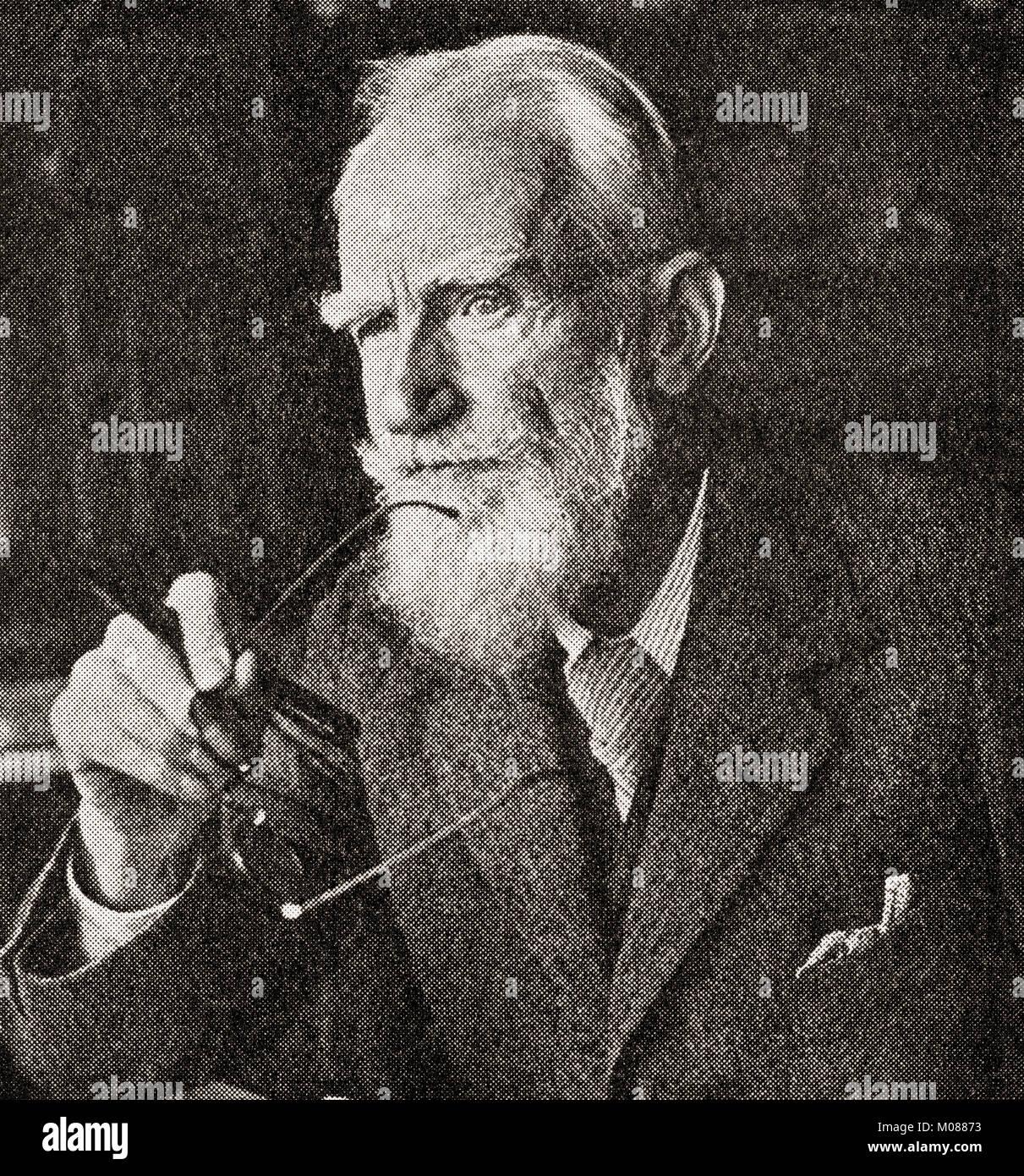 George Bernard Shaw,1856 –  1950, aka Bernard Shaw.  Irish playwright, critic, polemicist, and political activist. - Stock Image