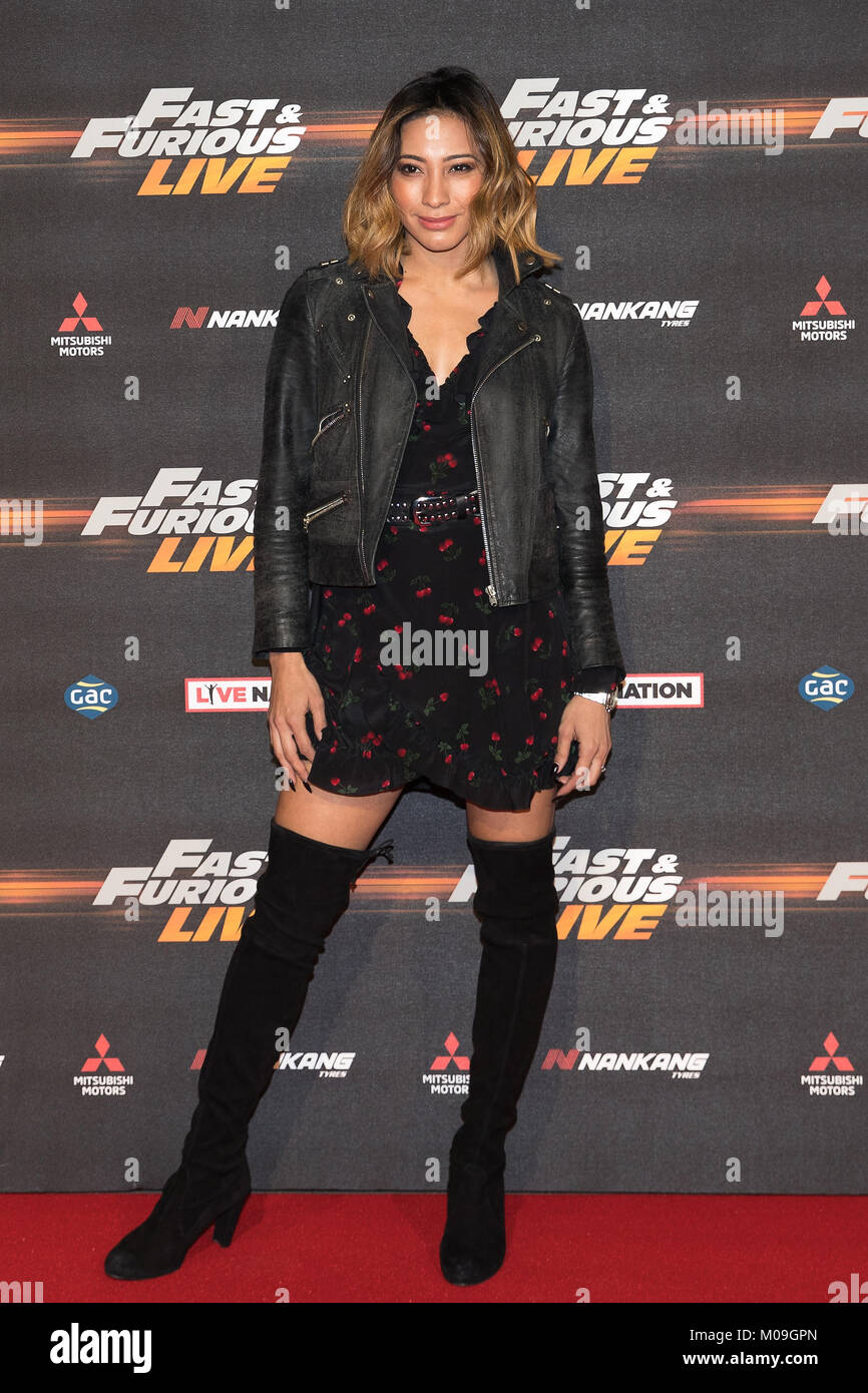 London, UK. 19th Jan, 2018. Karen Clifton at the Global Premiere of Fast & Furious Live at the O2 Arena London - Stock Image