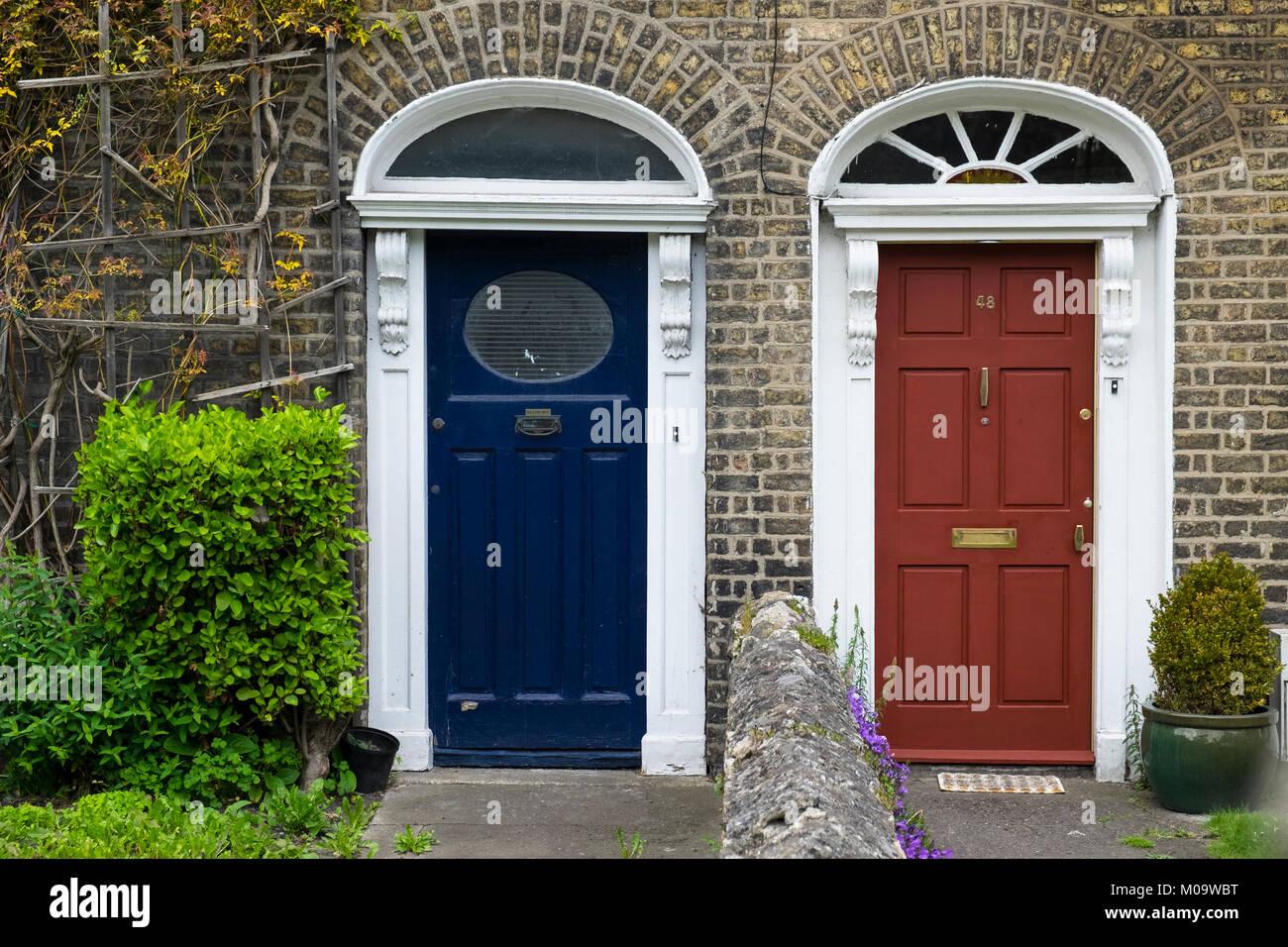 typical front doors in Dublin Ireland - Stock Image & Irish Doors Stock Photos \u0026 Irish Doors Stock Images - Alamy