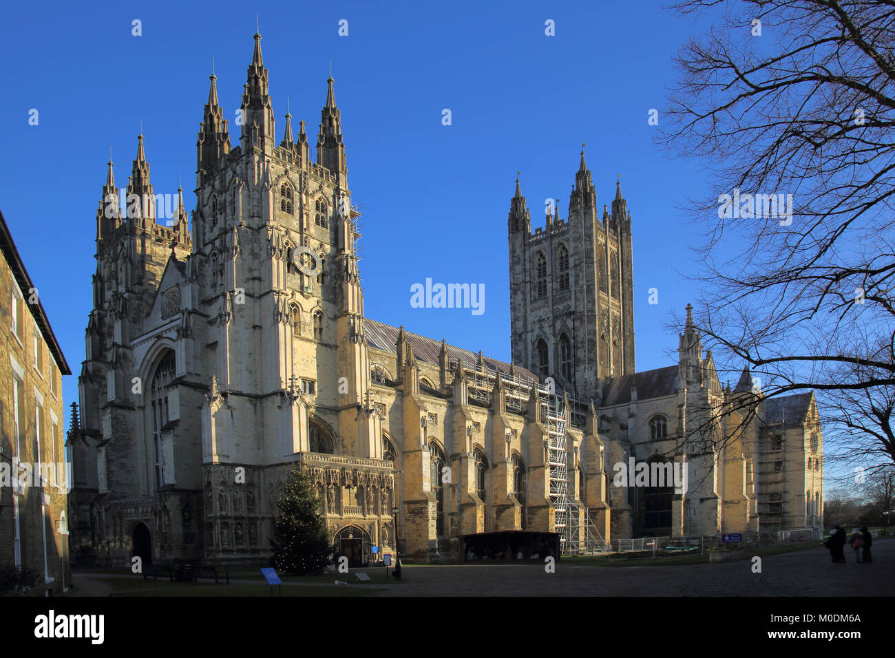 exterior view of canterbury cathedral  kent Stock Photo