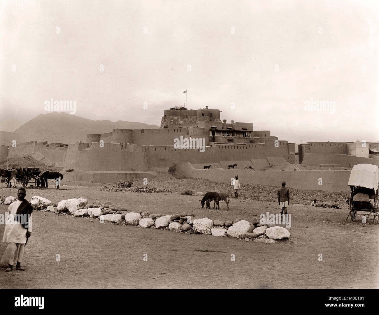 Jamrud Fort, Khyber Pass, NW Frontier, India (now Pakistan) c.1890's - Stock Image