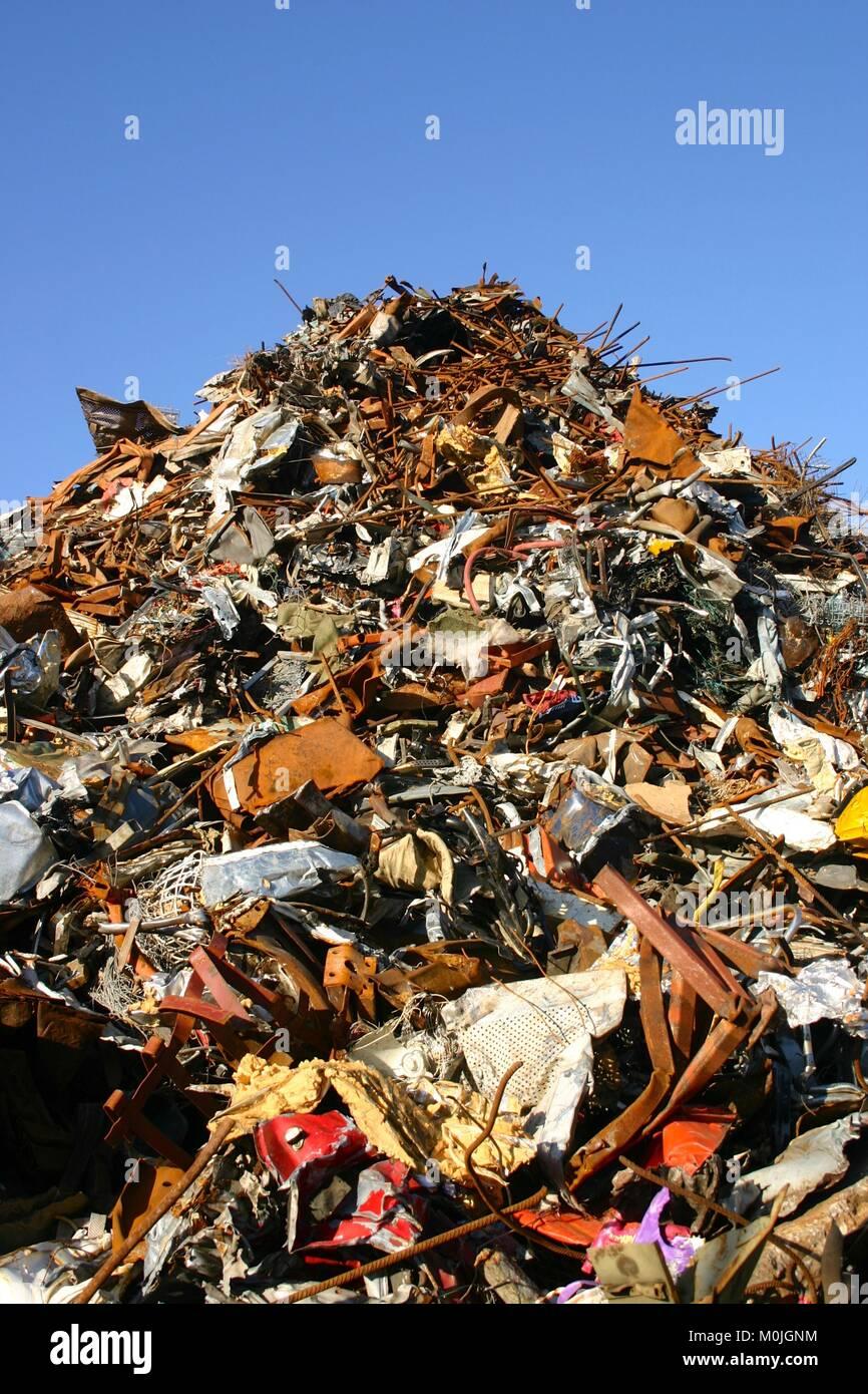 Recycling scrap metal - Stock Image