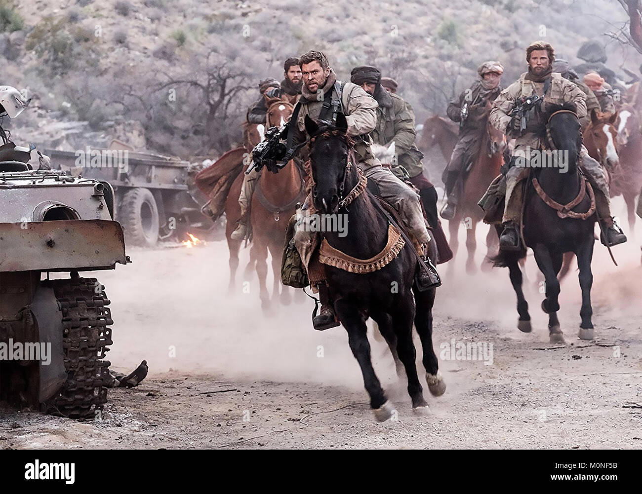 12 STRONG 2018 Alcon Entertainment film with Chris Hemsworth - Stock Image