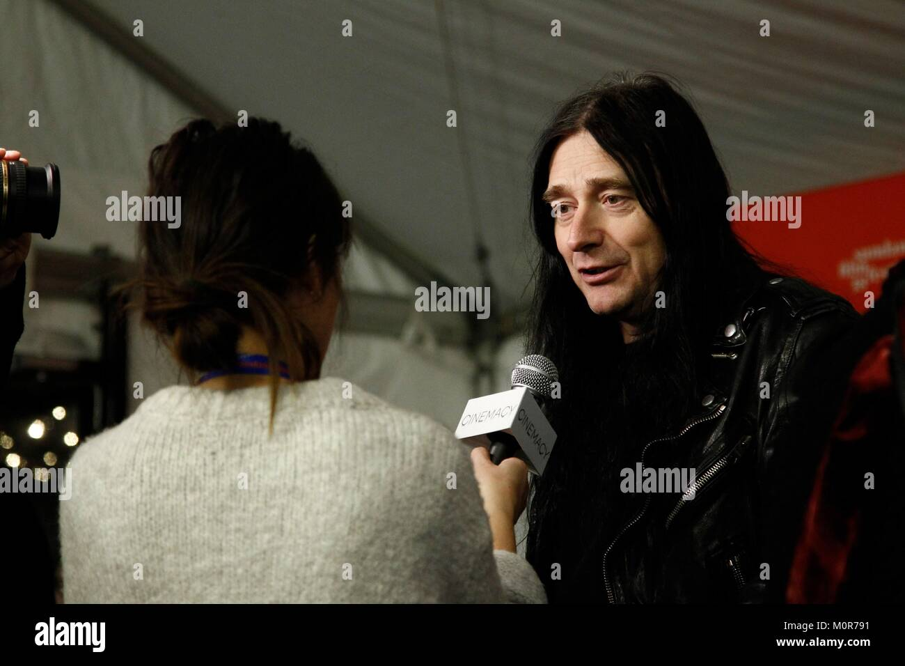 Park City, UT, USA. 23rd Jan, 2018. Jonas Akerlund at arrivals for LORDS OF CHAOS Premiere at Sundance Film Festival Stock Photo