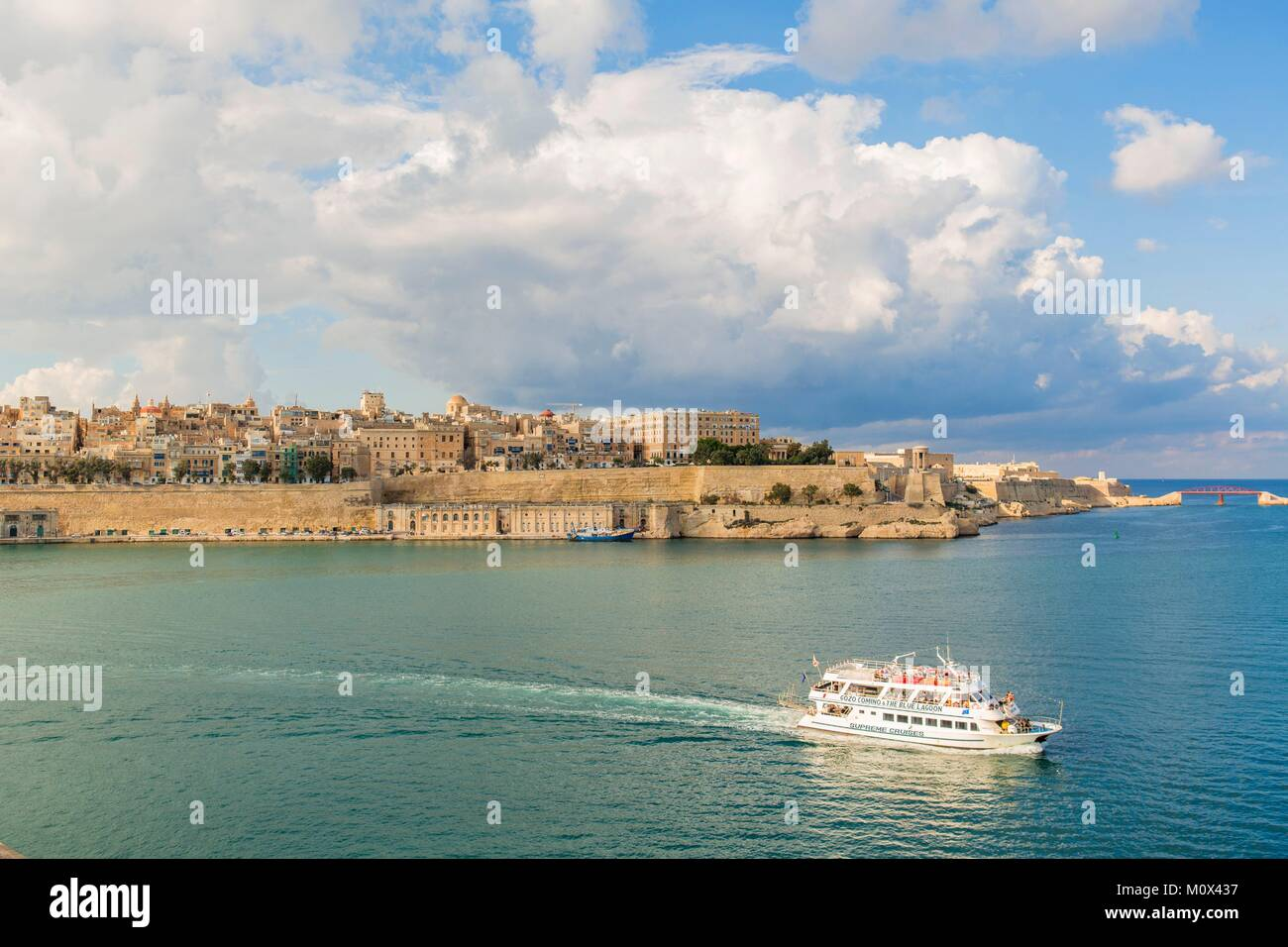 Malta,Valletta,listed as World Heritage by UNESCO,Grand HarbourStock Photo