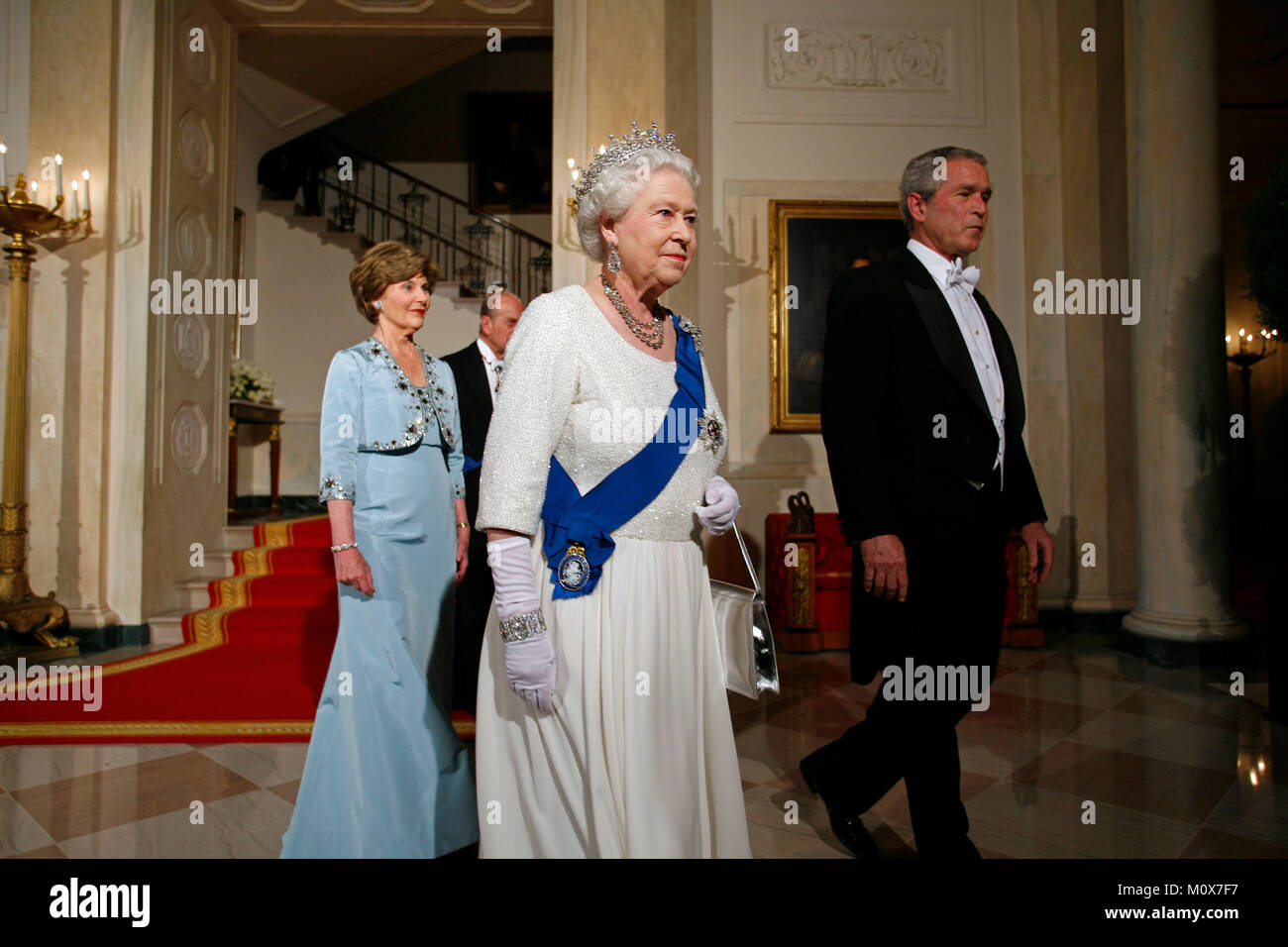 Queen Elizabeth Ii Of The United Kingdom And President George W