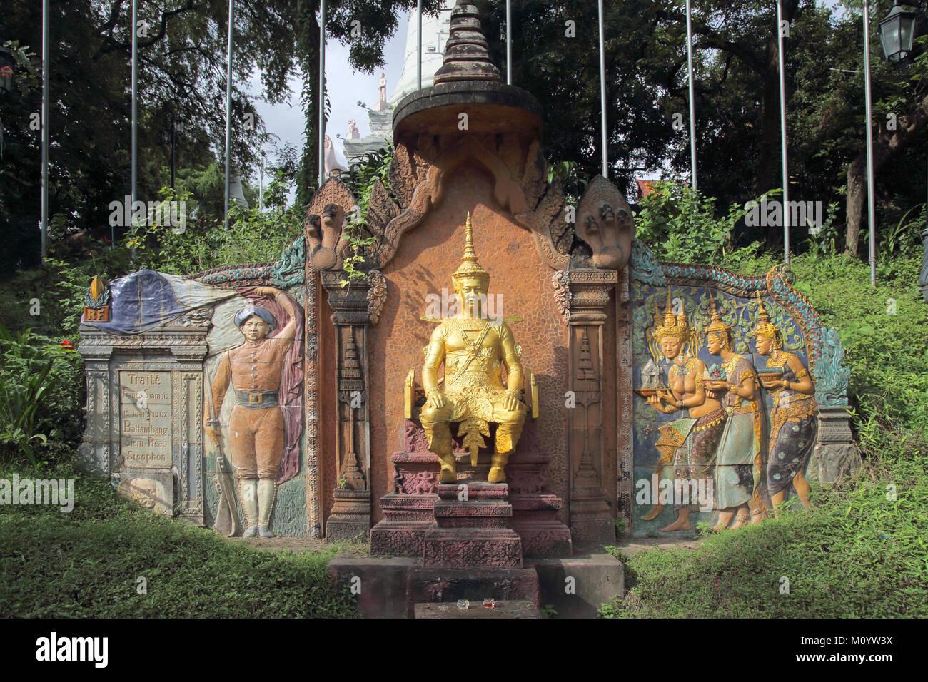 what phnom or phnom penh hill phnom penh cambodia Stock Photo