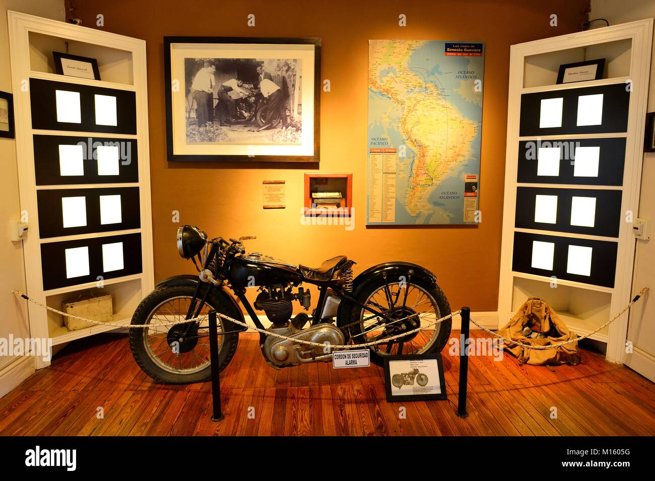 Motorcycle of Ernesto Che Guevara,Museo Casa del Che,Alta Gracia,Province of Córdoba,Argentina Stock Photo