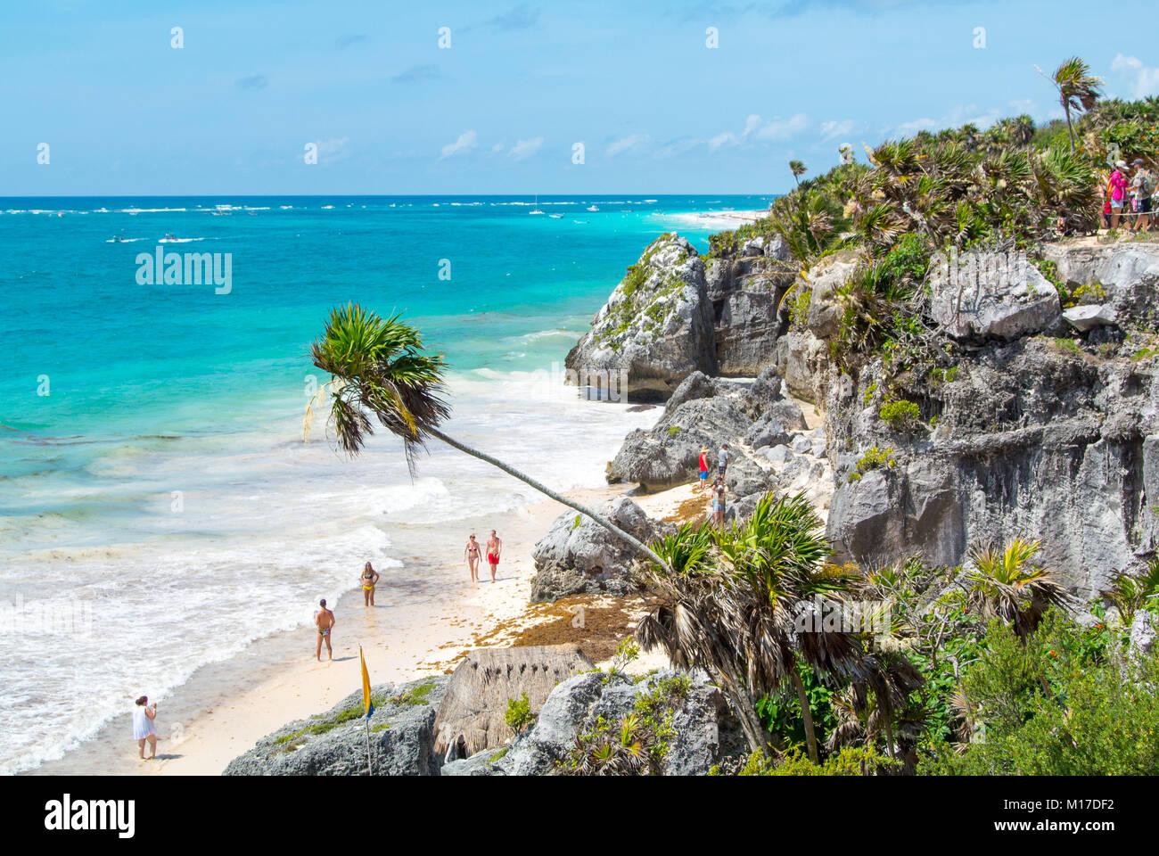 Tulum ruinas Yucatan Peninsula Mexico Stock Photo