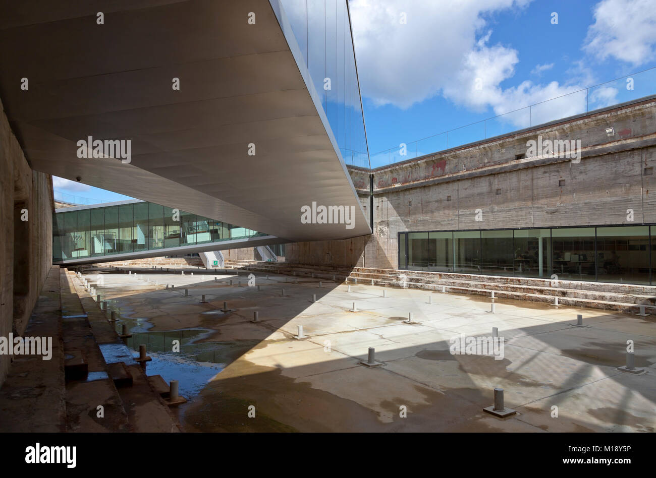 The underground Danish Maritime Museum (MS Museet for Søfart) built around an old dry dock. Elsinore / Helsingør, - Stock Image