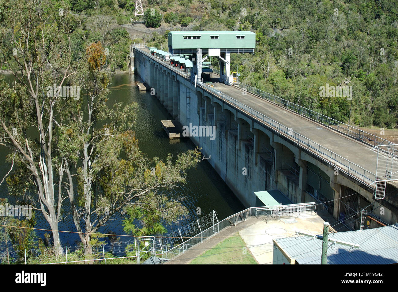 The wall of Somerset Dam, Queensland, Australia - Stock Image